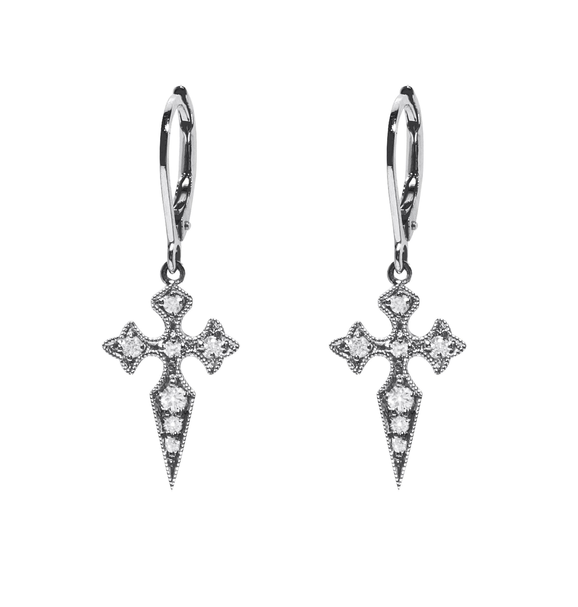 Boucles d'oreilles Dormeuses Blood Or Diamonds - Stone