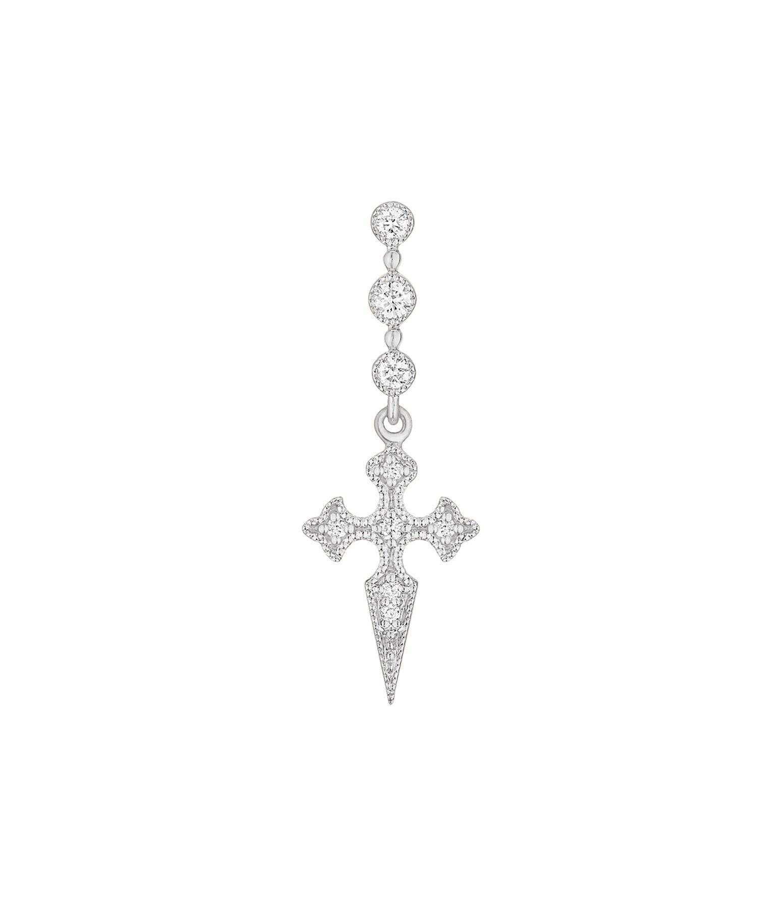 STONE PARIS - BO Barrette Blood Diamonds Or Blanc (unité)