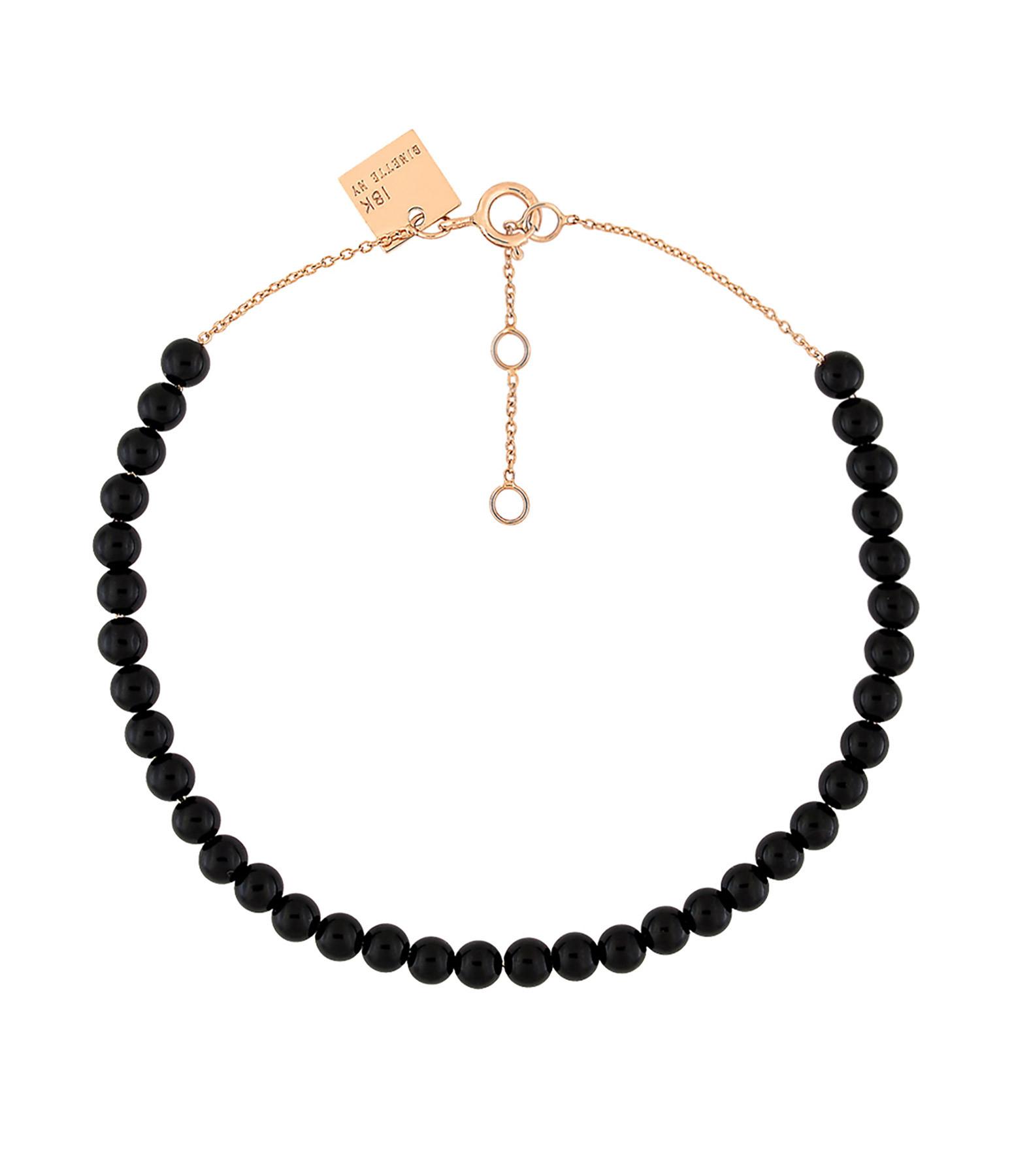GINETTE_NY - Bracelet Maria Or Rose Onyx