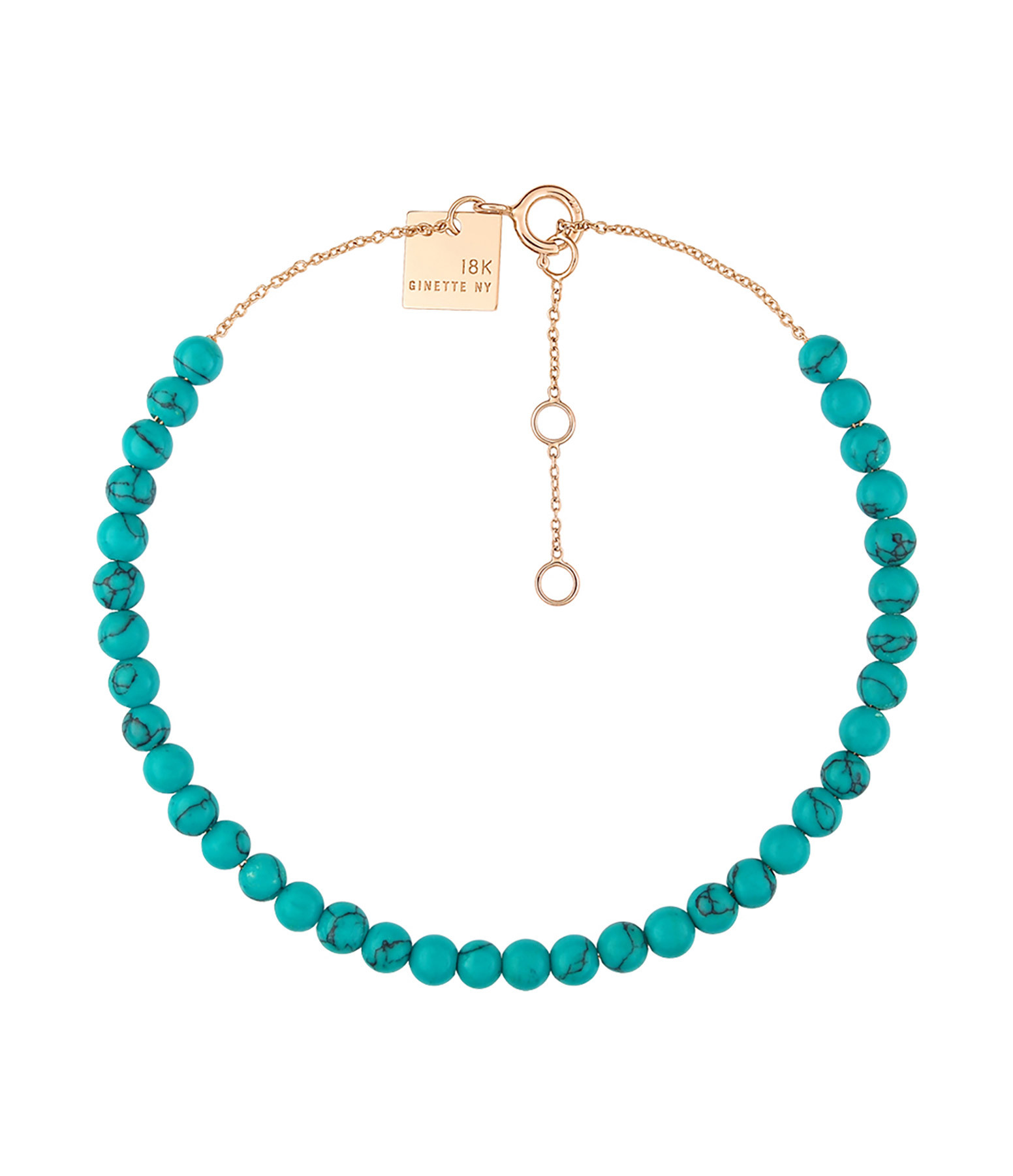 GINETTE_NY - Bracelet Maria Or Rose Turquoise