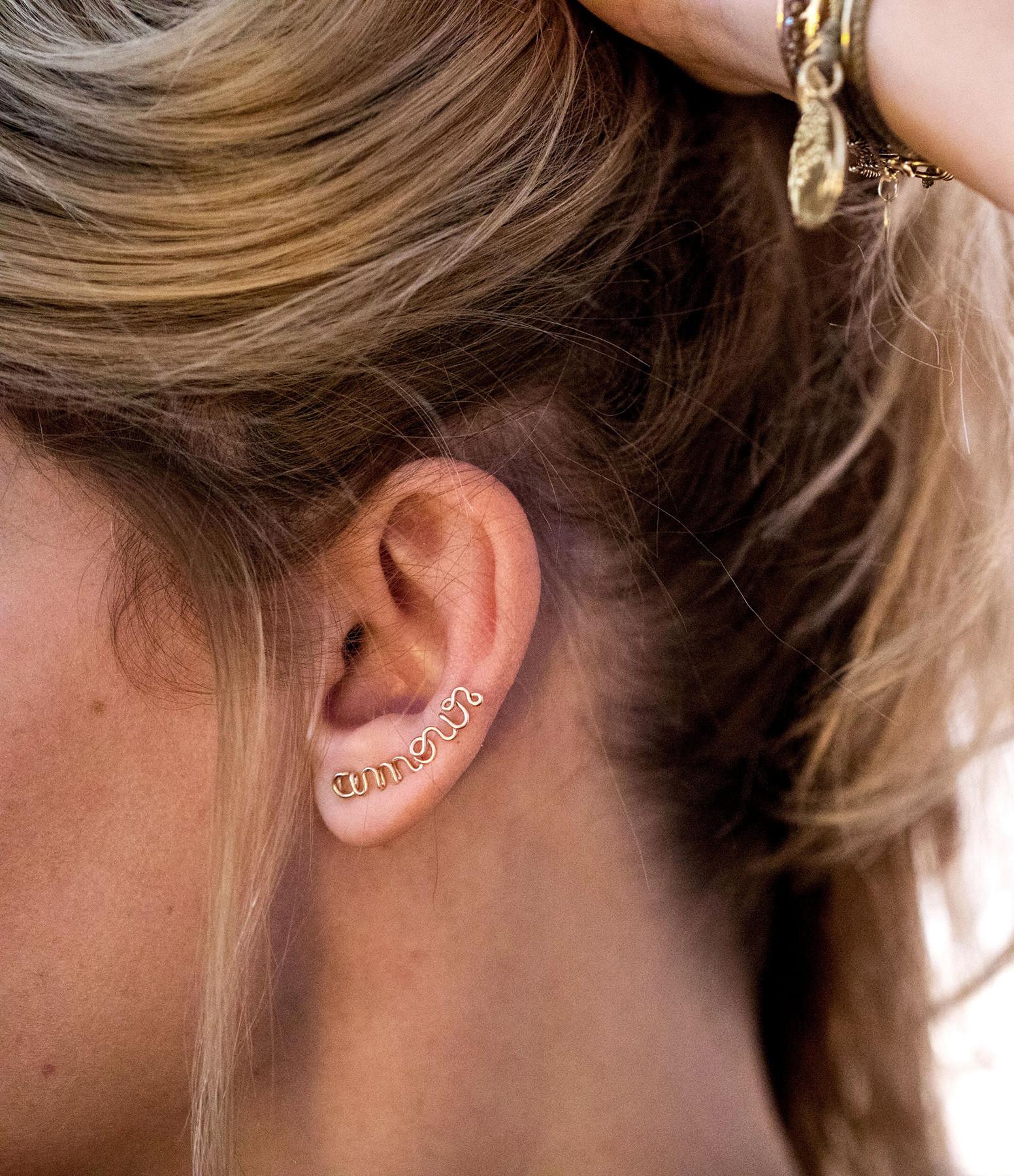 ATELIER PAULIN - Boucle d'oreille Amour Gold Filled (vendue à l'unité)