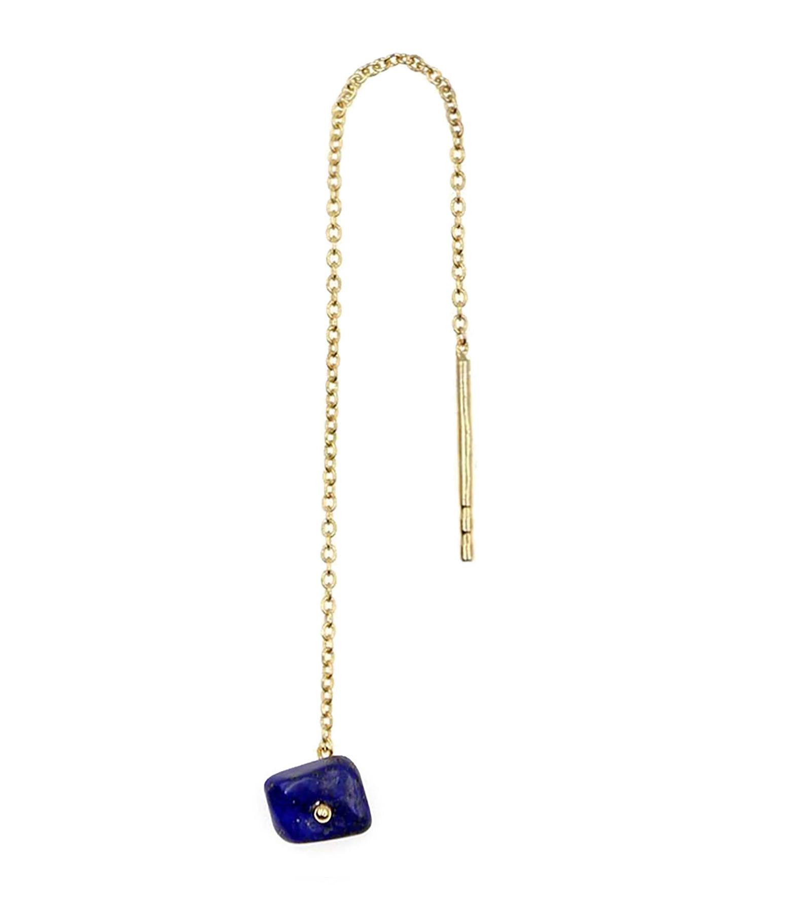 MON PRECIEUX GEM - Boucle d'oreille Chaîne Lapis Lazuli (unité)