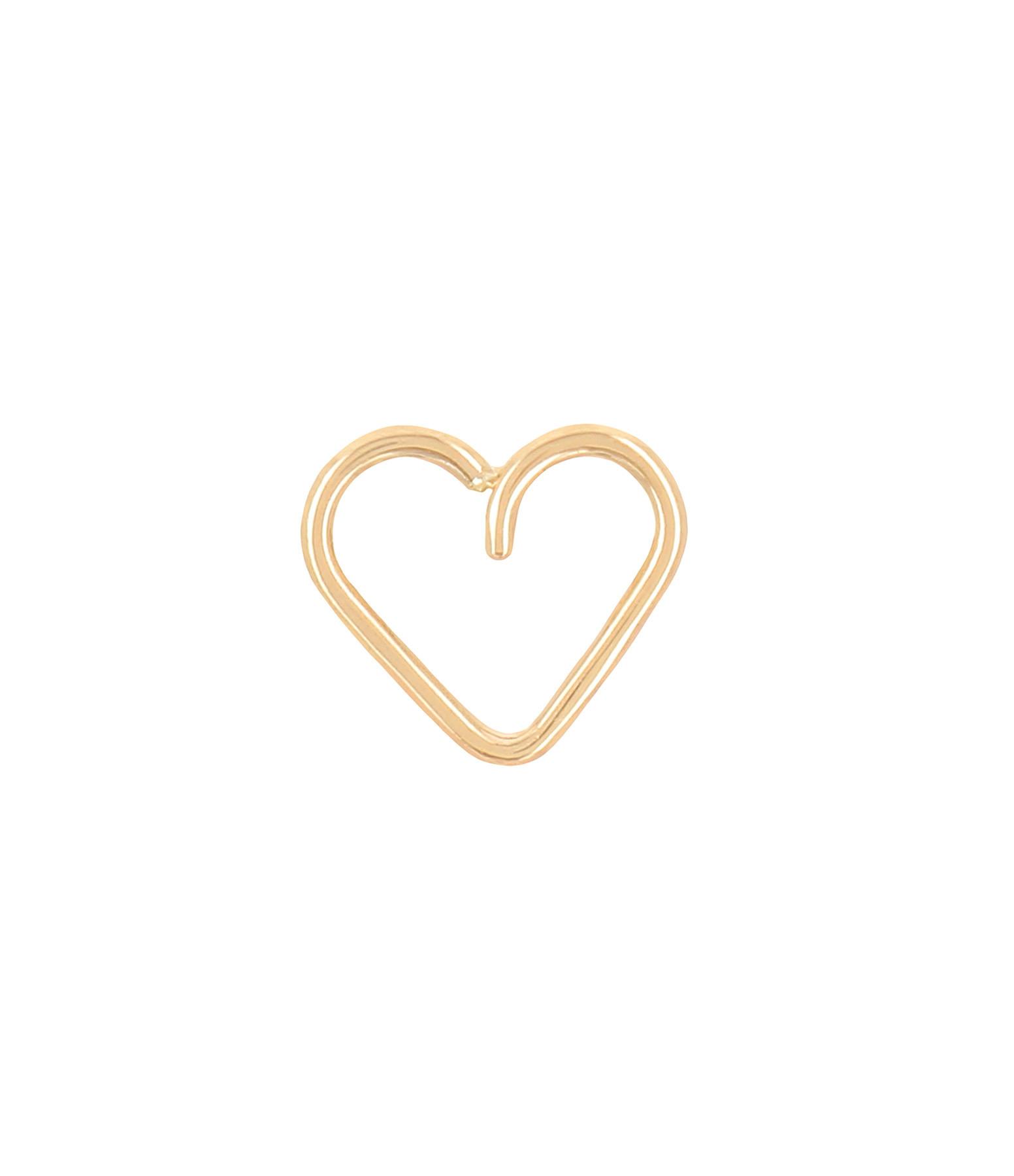 ATELIER PAULIN - Bijou d'oreille Cœur Gold Filled 14K Jaune, Collection Toi x Moi (vendue à l'unité)
