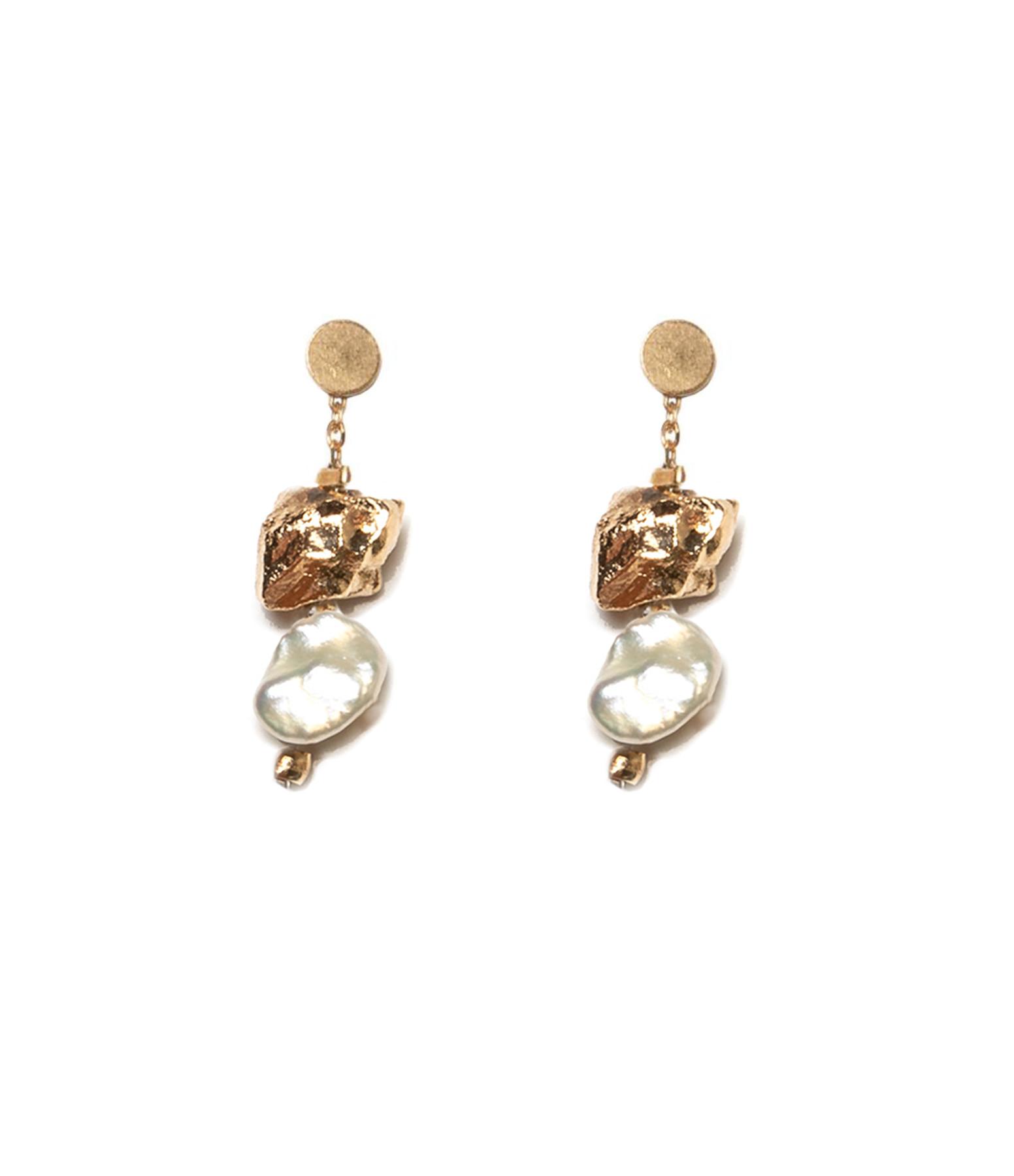 LSONGE - Boucles d'oreilles Perle Blanche XS AGD
