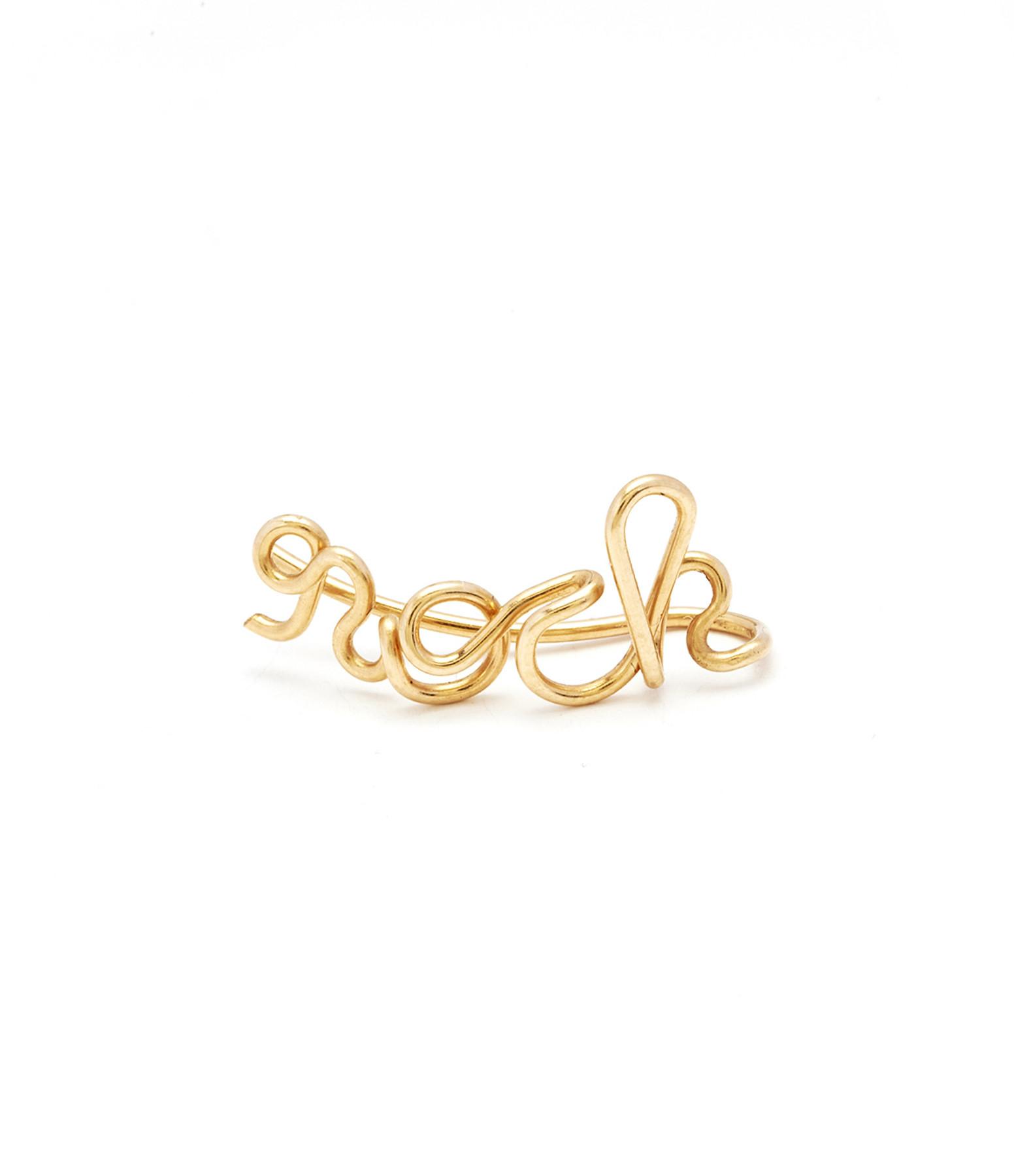 ATELIER PAULIN - Boucle d'oreille Rock Gold Filled (vendue à l'unité)