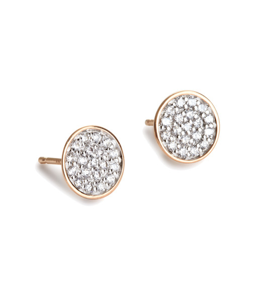 Boucles d'or. Studs Sequin Diamond - GINETTE_NY