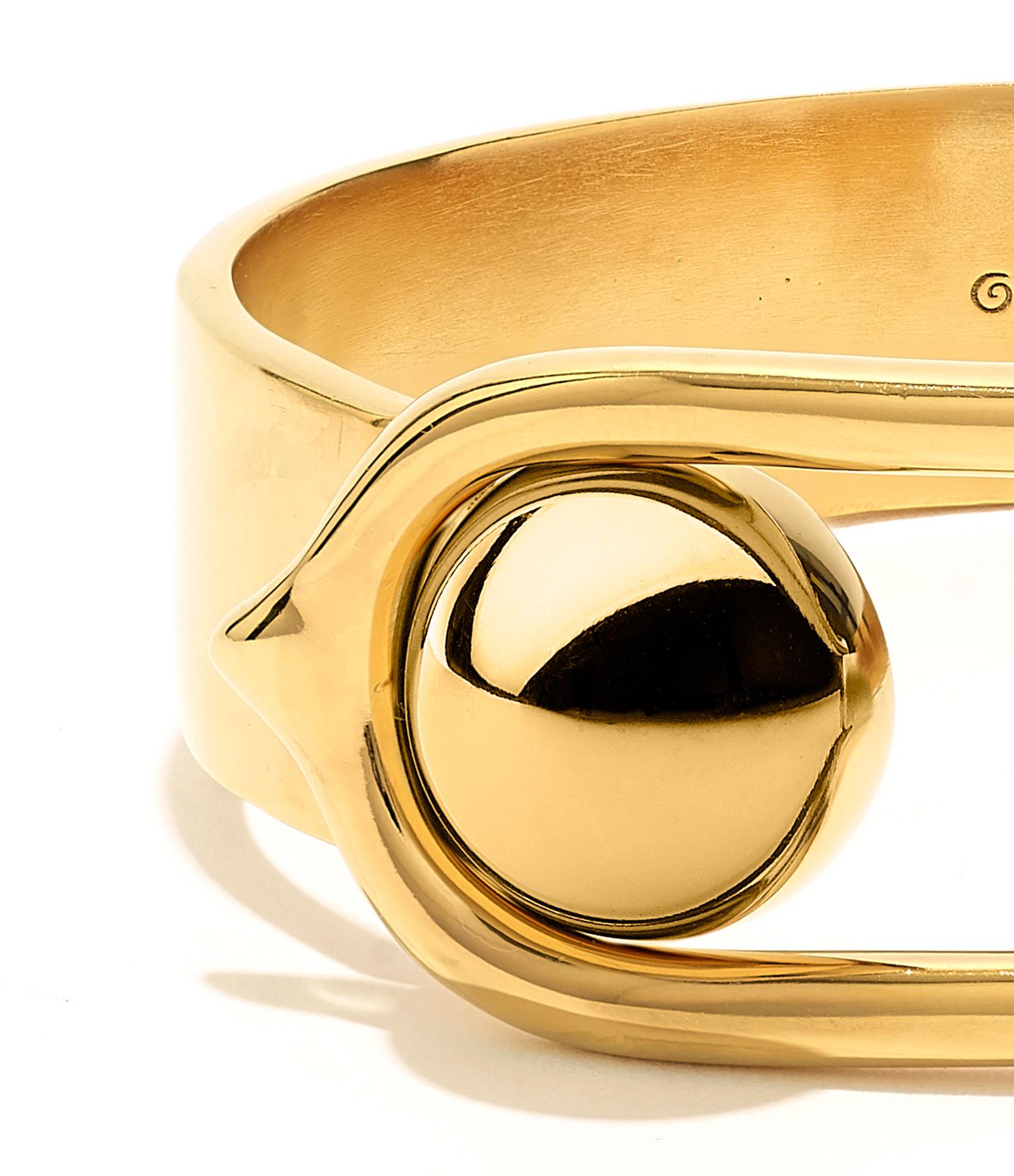 GOOSSENS - Bracelet Boucle GM Laiton Doré