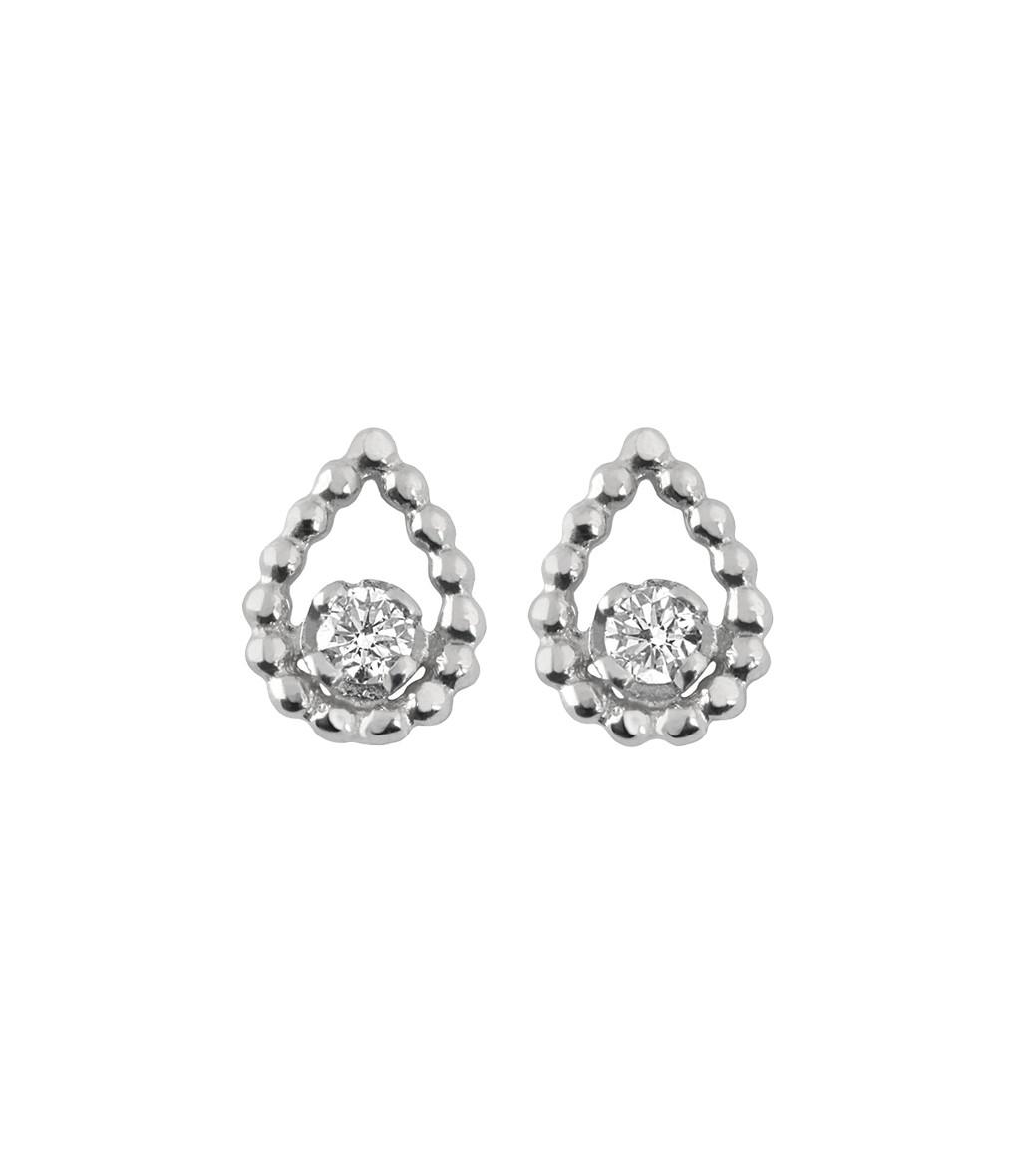 GIGI CLOZEAU - Boucles d'oreilles Poire Diamants