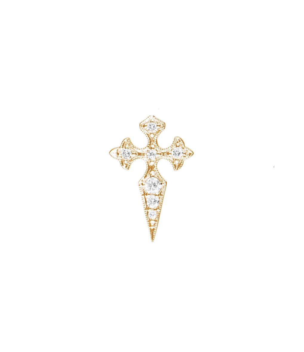 Boucle d'oreilles Bouton Blood Diamonds (unité) - Stone