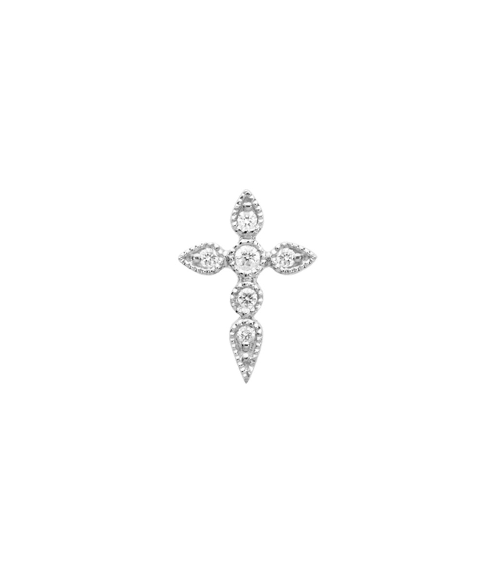 Boucle d'oreille Bouton Céleste Diamants (vendue à l'unité) - STONE