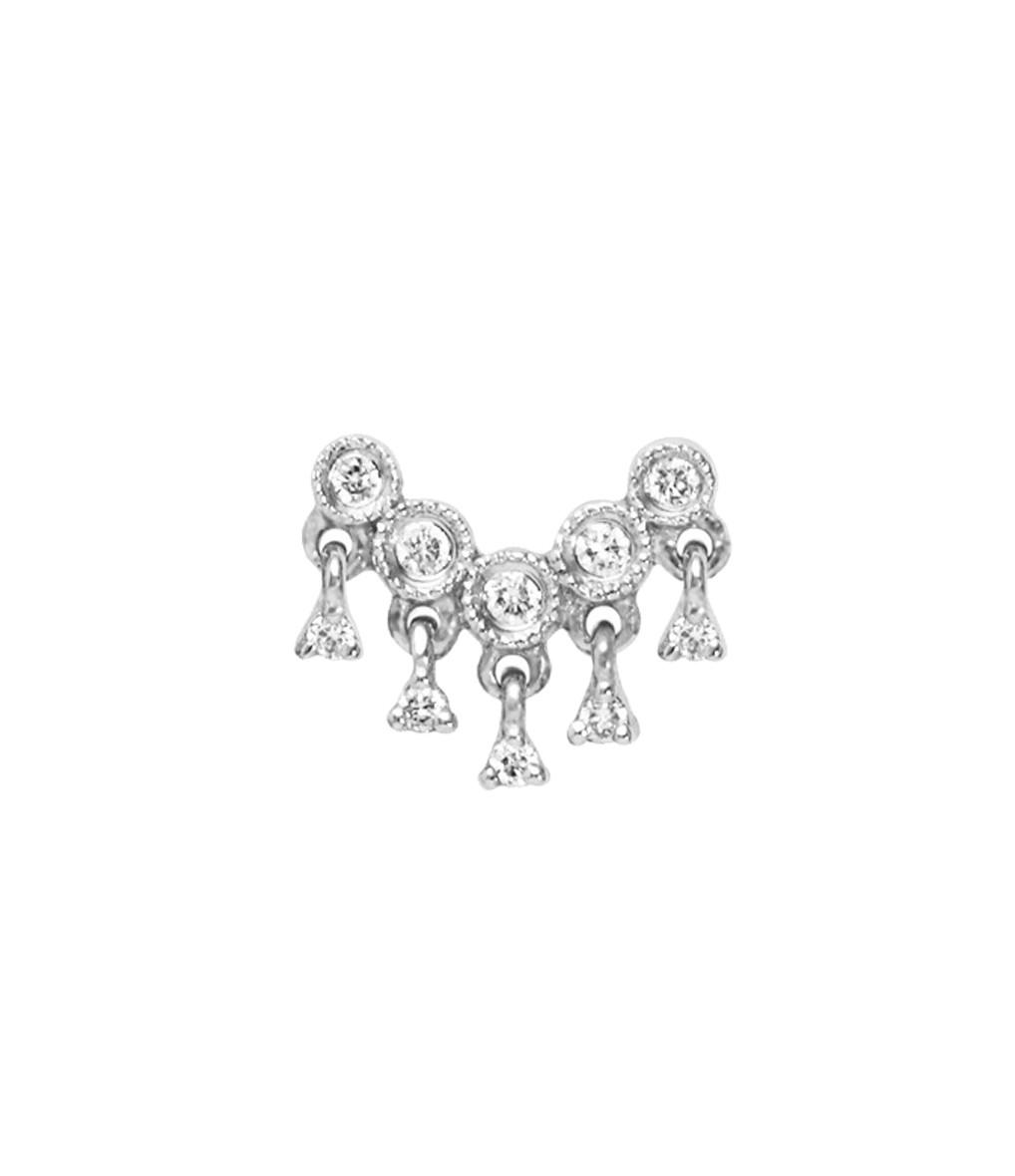 Boucle d'oreille Bouton Talitha Diamants (vendue à l'unité) - STONE