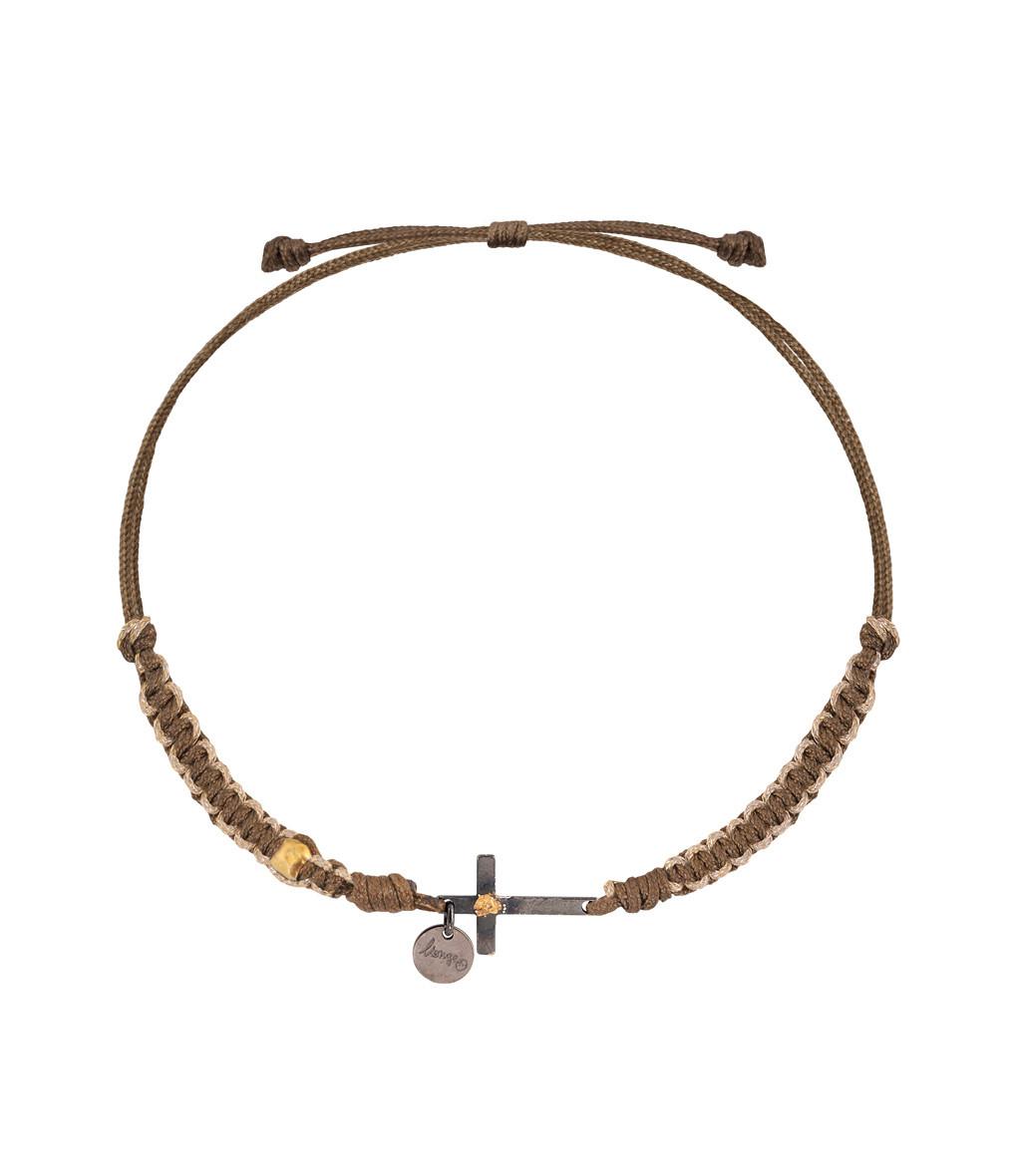 Bracelet Cordon Religion Makramé Croix - LSONGE