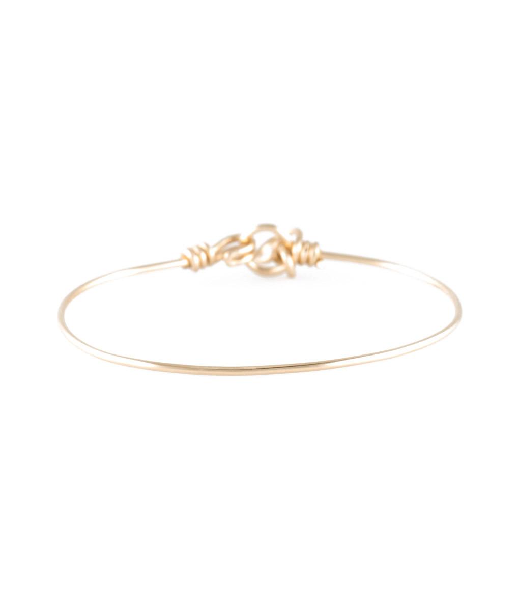 ATELIER PAULIN - Bracelet Fil Nude Pur Gold Filled Jaune