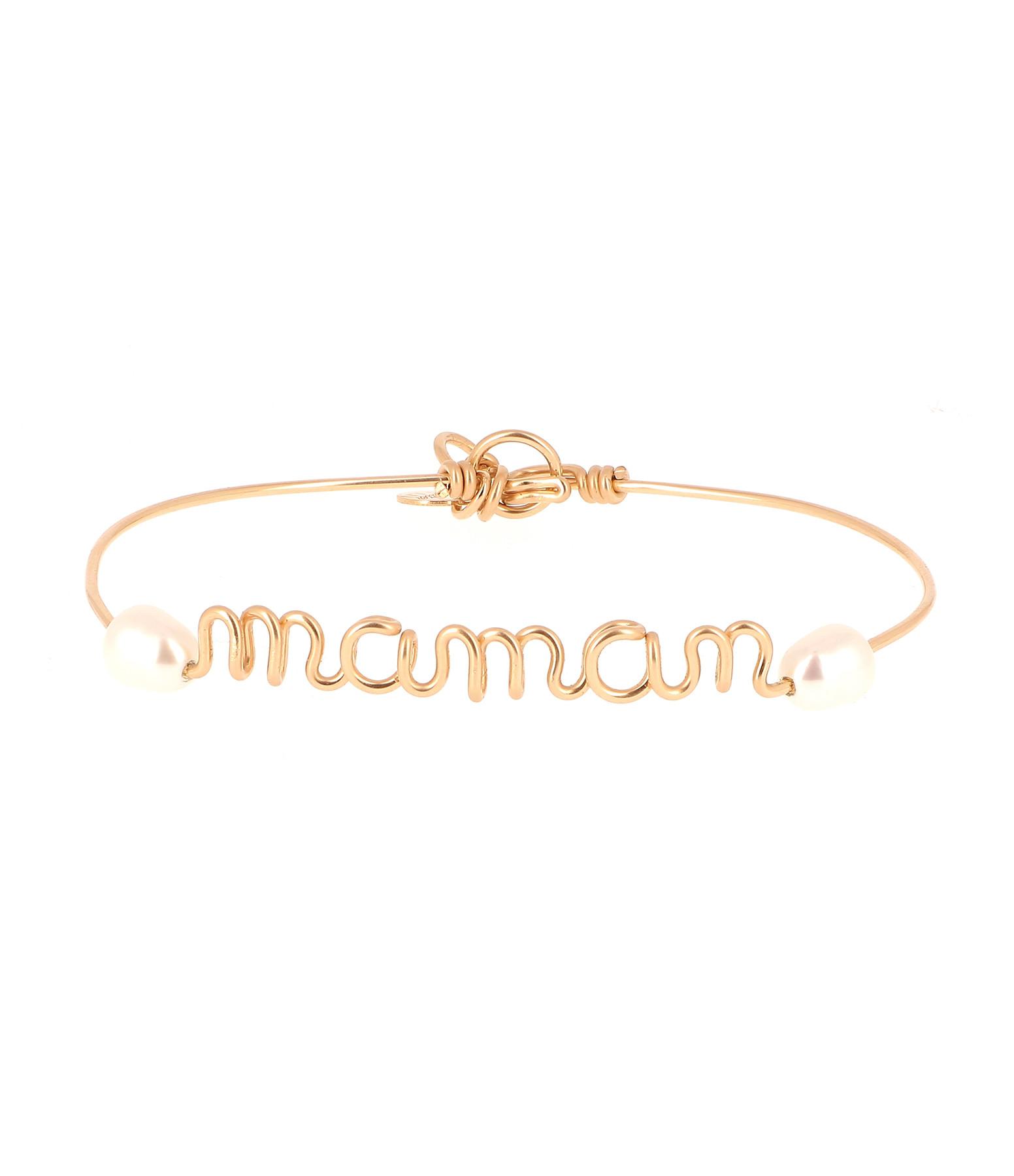 ATELIER PAULIN - Bracelet Fil Maman Perles Rivière Gold Filled