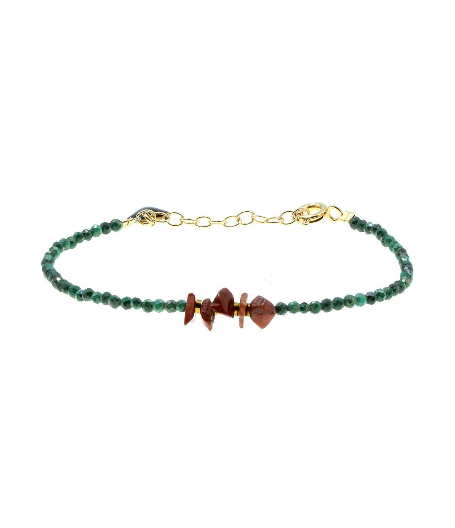 MON PRECIEUX GEM - Bracelet Facettes Malachite Jaspe