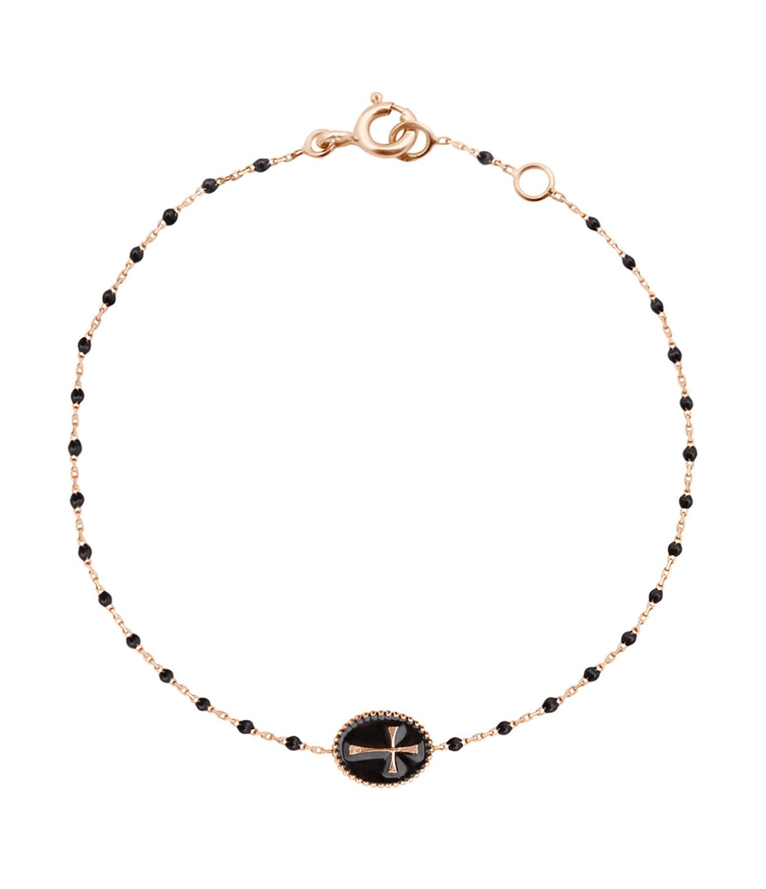 Bracelet Médaille Croix Résine - GIGI CLOZEAU