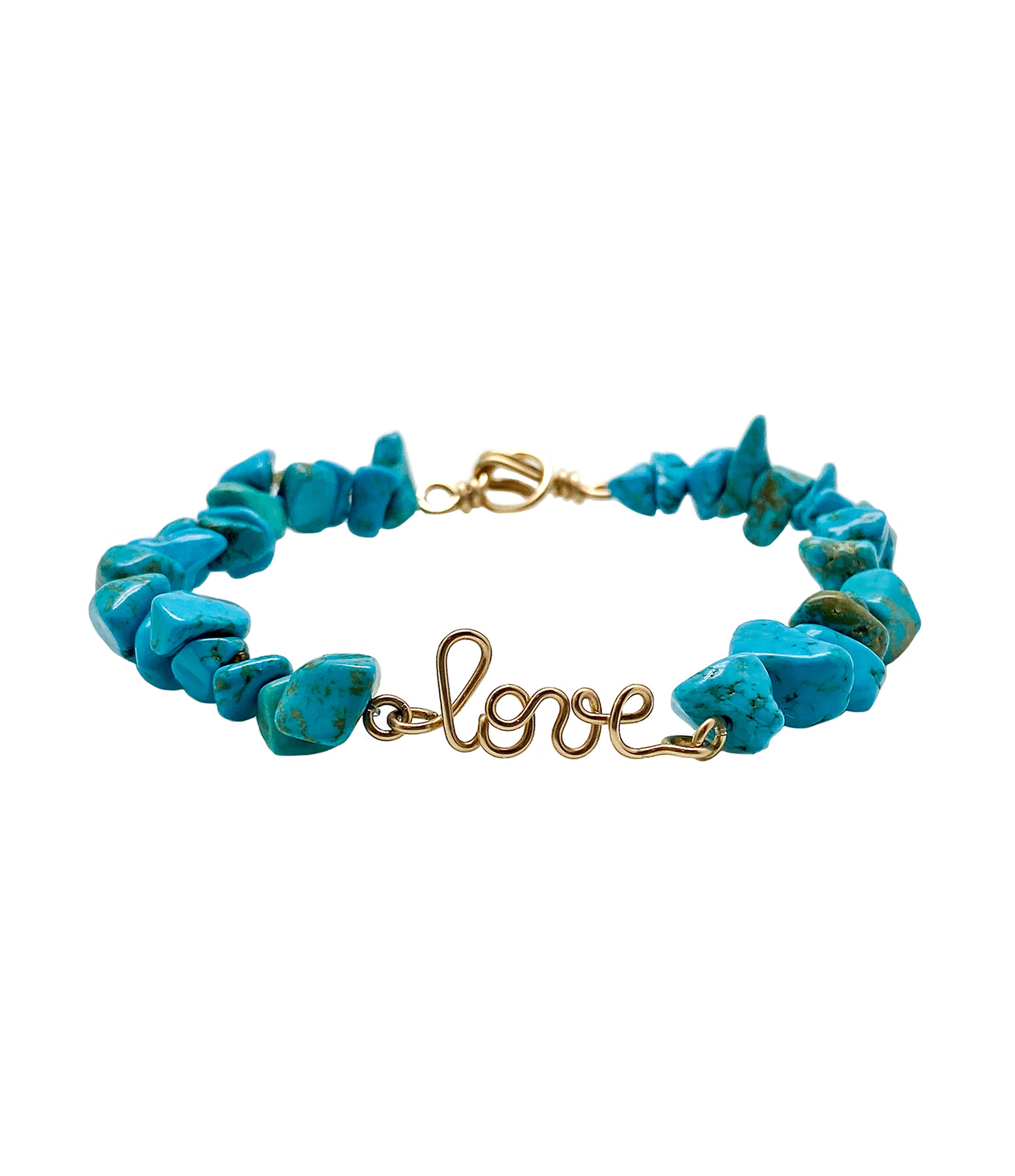 ATELIER PAULIN - Bracelet Love Gold Filled Turquoise