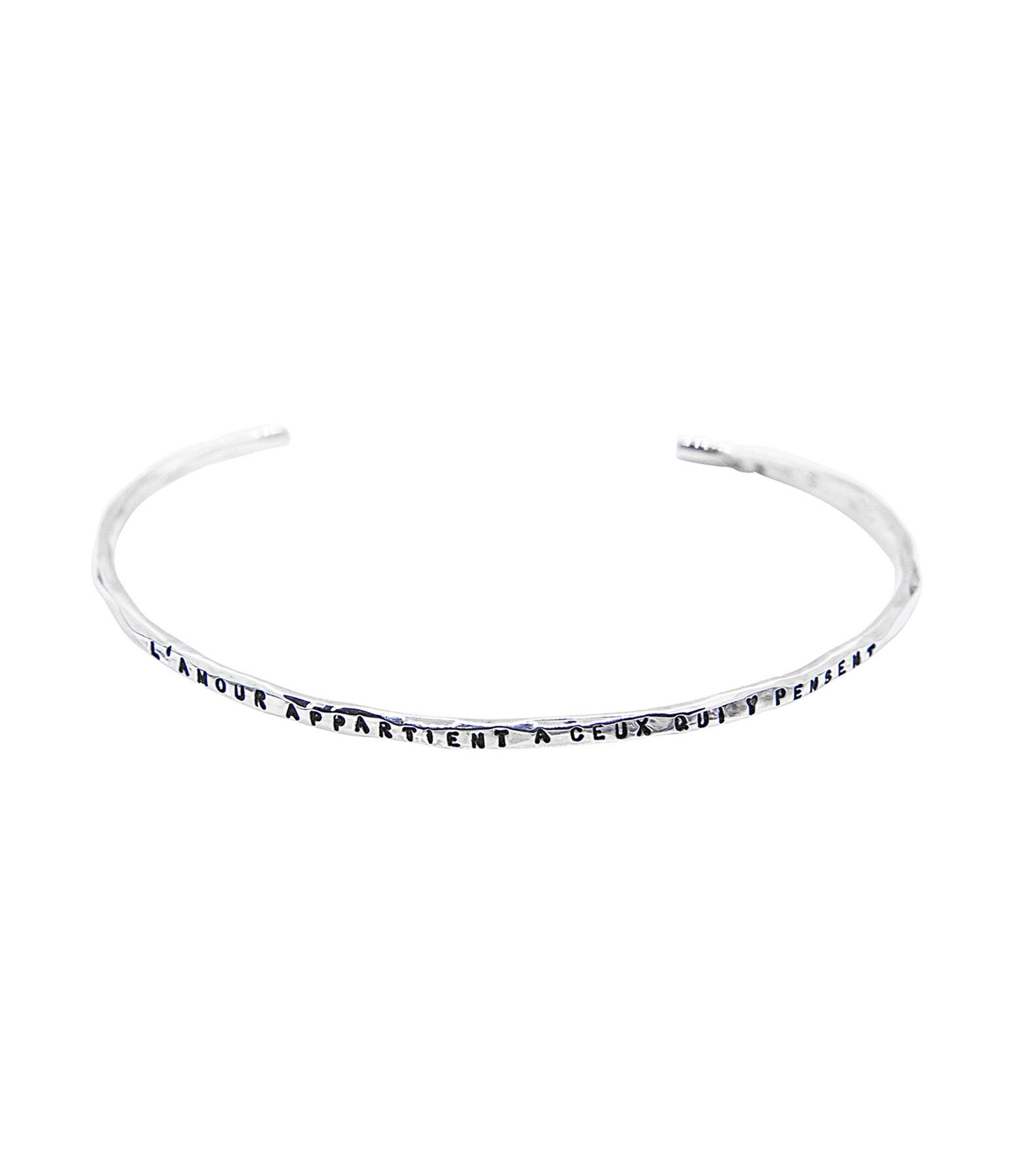 SERGE THORAVAL - Bracelet Pensée Argent
