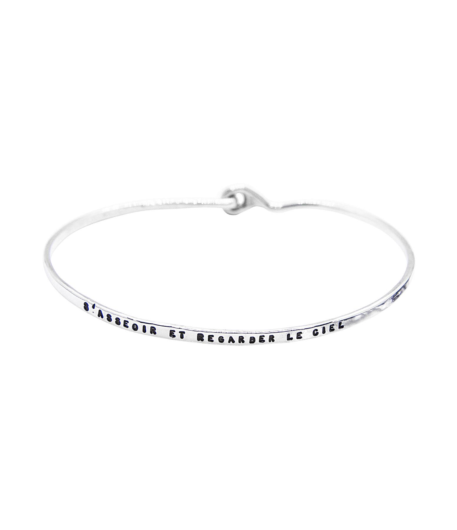 SERGE THORAVAL - Bracelet S'asseoir Argent