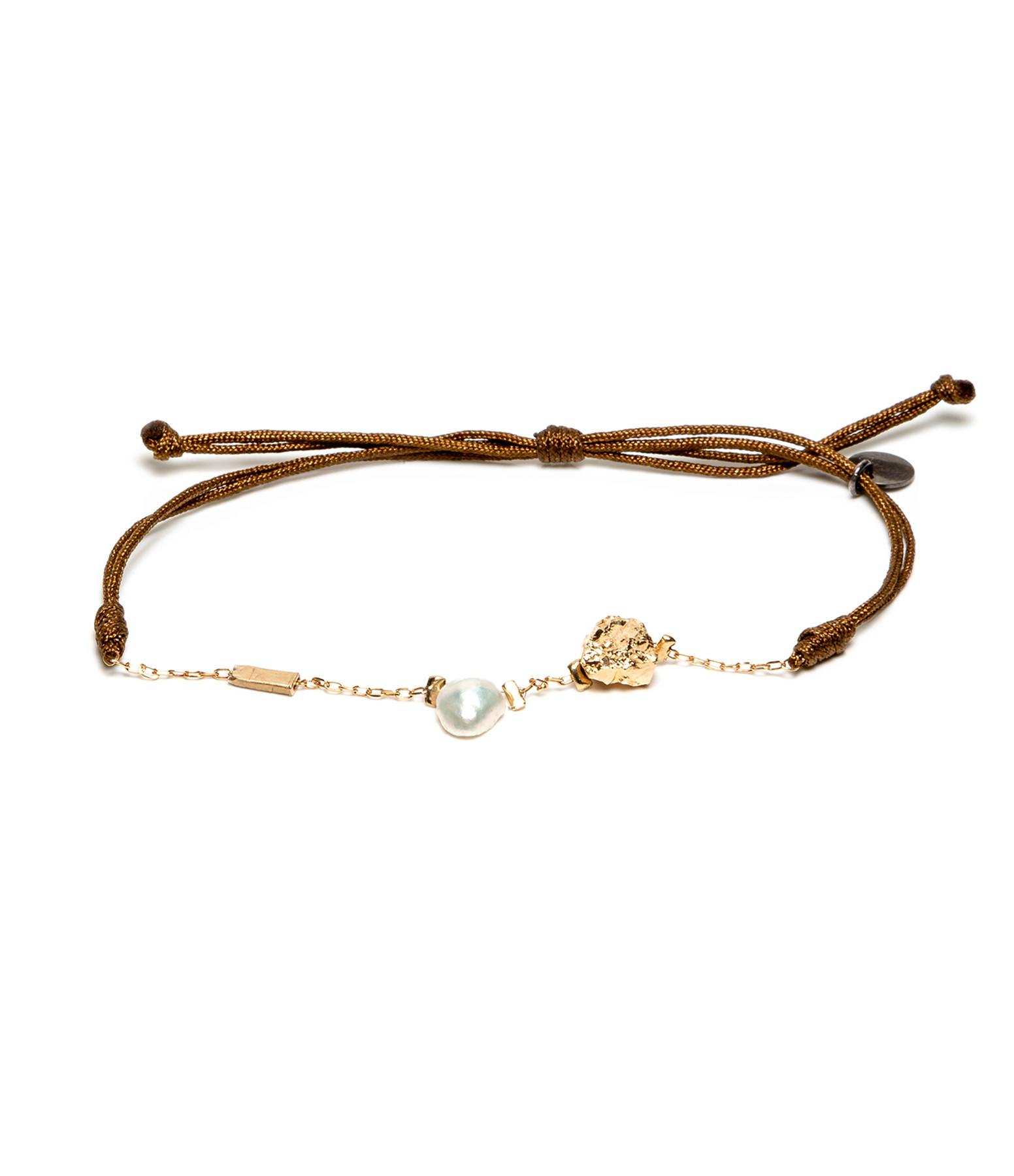 LSONGE - Bracelet Cordon Perle Blanche AGD