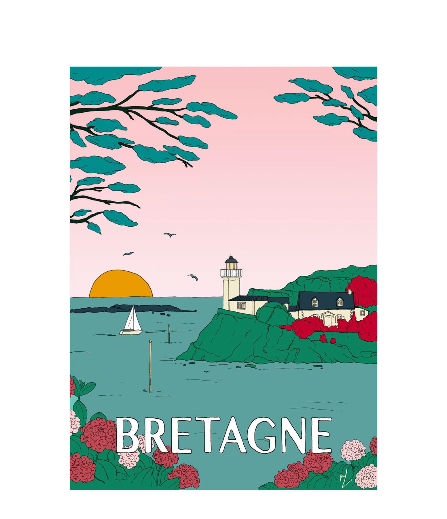 MAISON SARAH LAVOINE - Affiche Bretagne 30x40cm