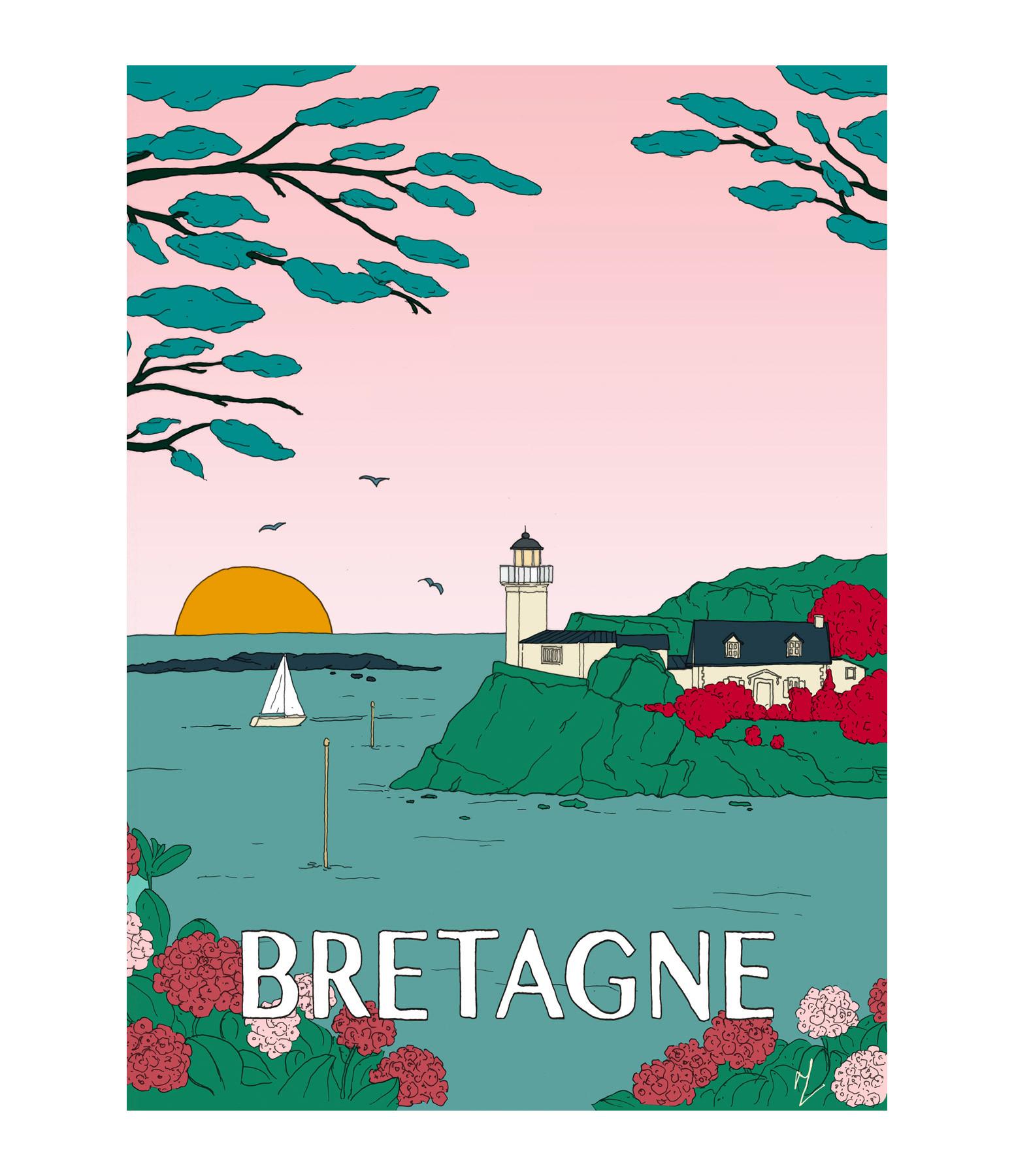 MAISON SARAH LAVOINE - Affiche Bretagne 56x76cm