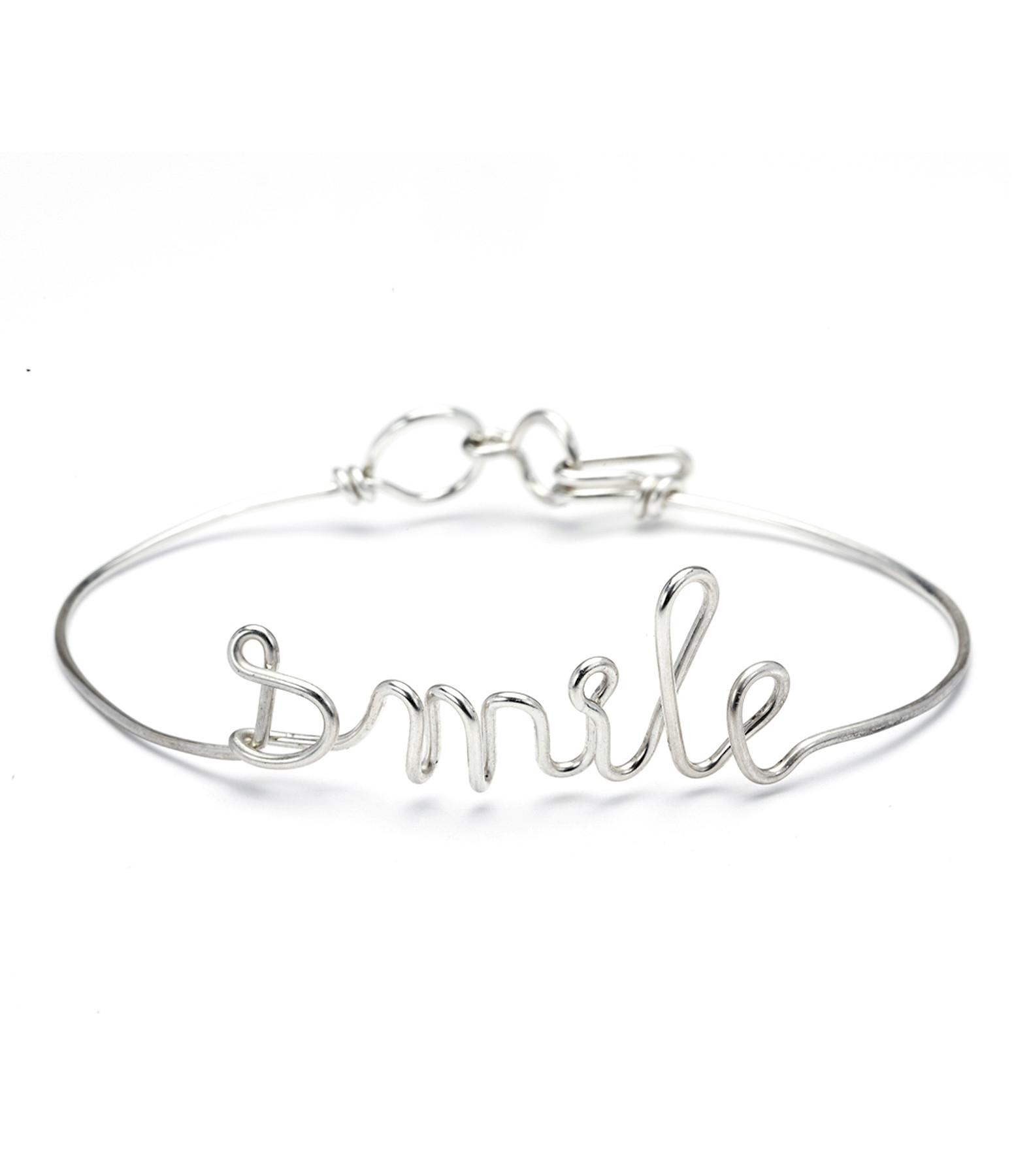 Bracelet Fil Smile Argent - ATELIER PAULIN