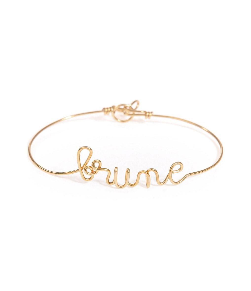 Jonc Fil Brune Gold Filled - ATELIER PAULIN
