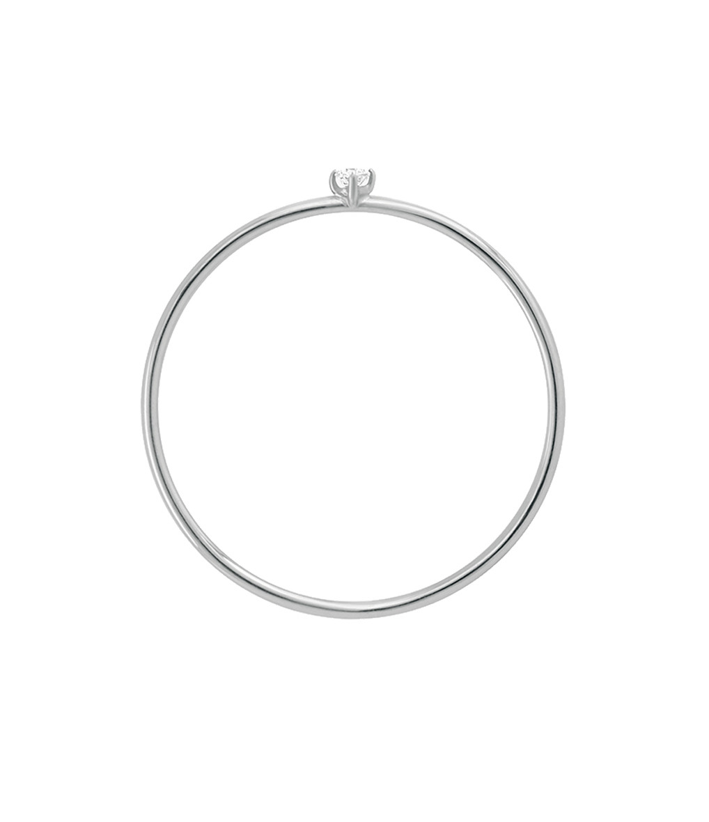VANRYCKE - Bague Stardust Or Blanc 1 Diamant