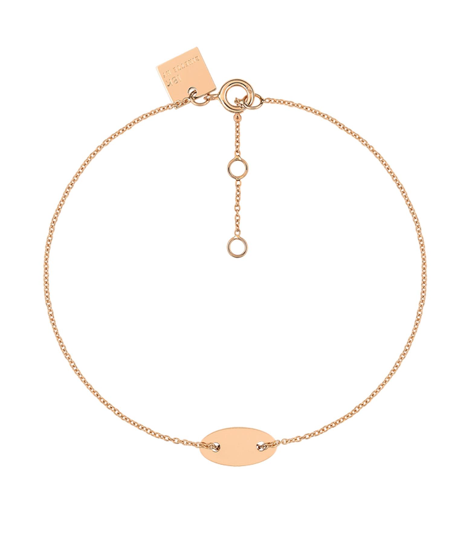 GINETTE_NY - Bracelet Sequin Mini Or Rose