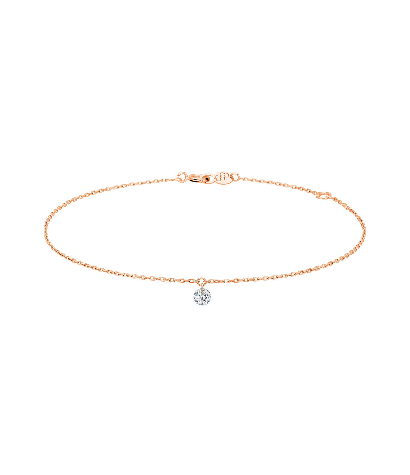 LA BRUNE & LA BLONDE - Bracelet 360° Diamant Brillant 0,10 Or Rose