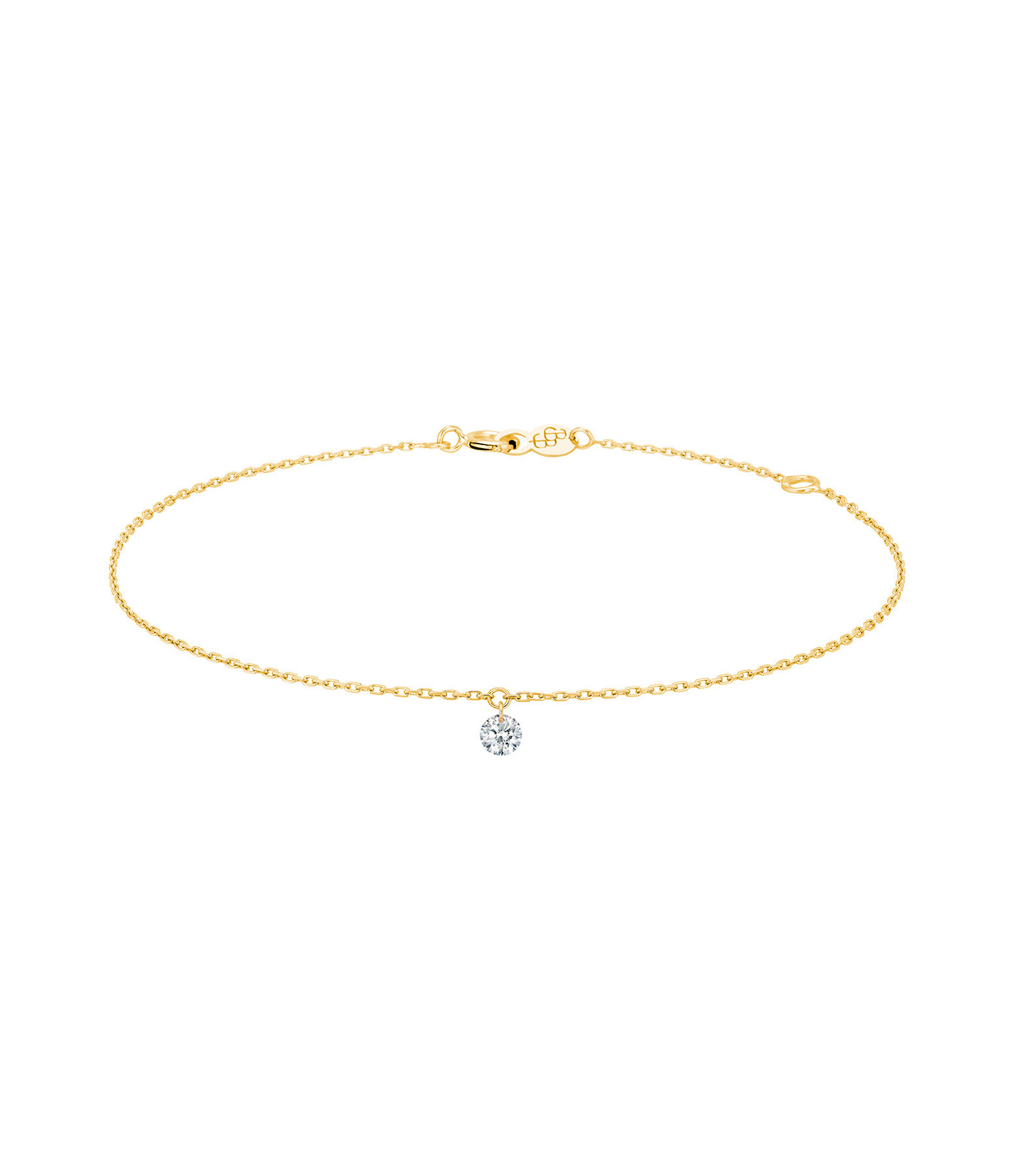 LA BRUNE & LA BLONDE - Bracelet 360° Diamant Brillant 0,10 Or Jaune