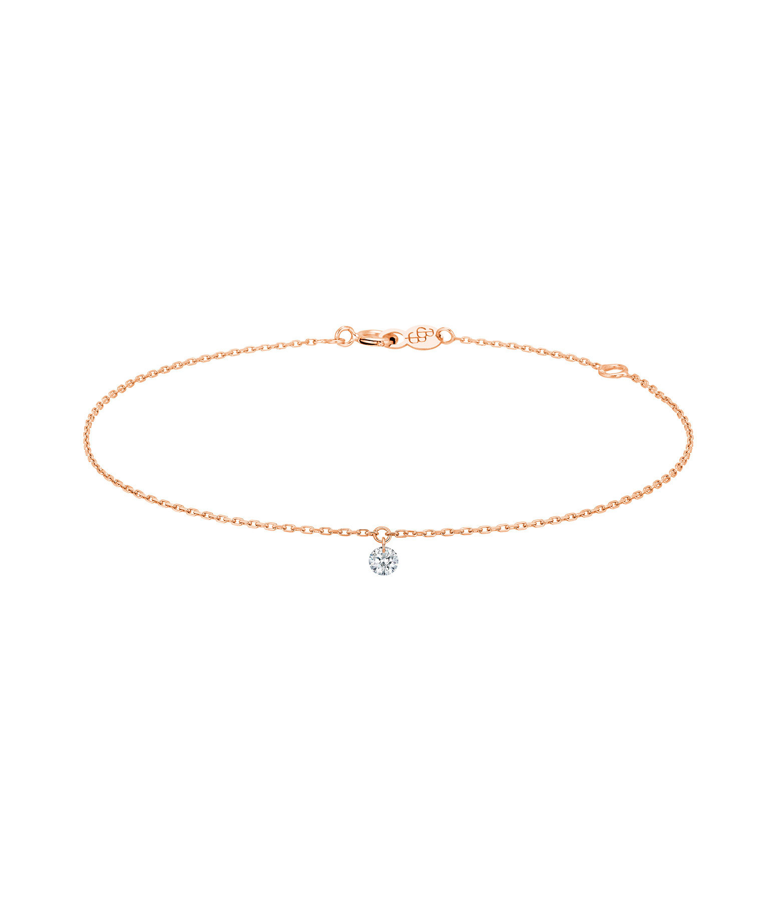 LA BRUNE & LA BLONDE - Bracelet 360° Diamant Brillant 0,07 Or Rose