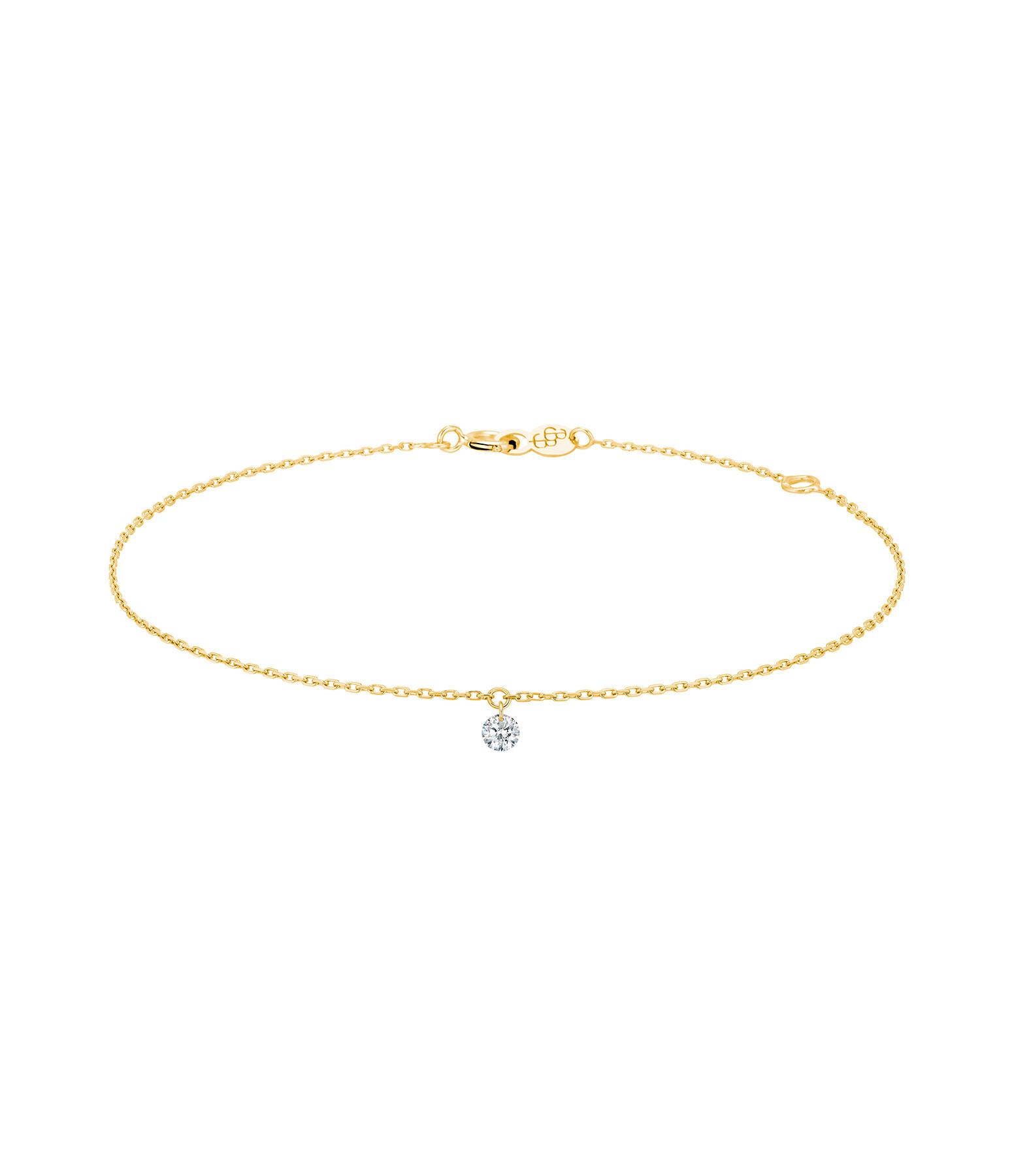 LA BRUNE & LA BLONDE - Bracelet 360° Diamant Brillant 0,07 Or Jaune