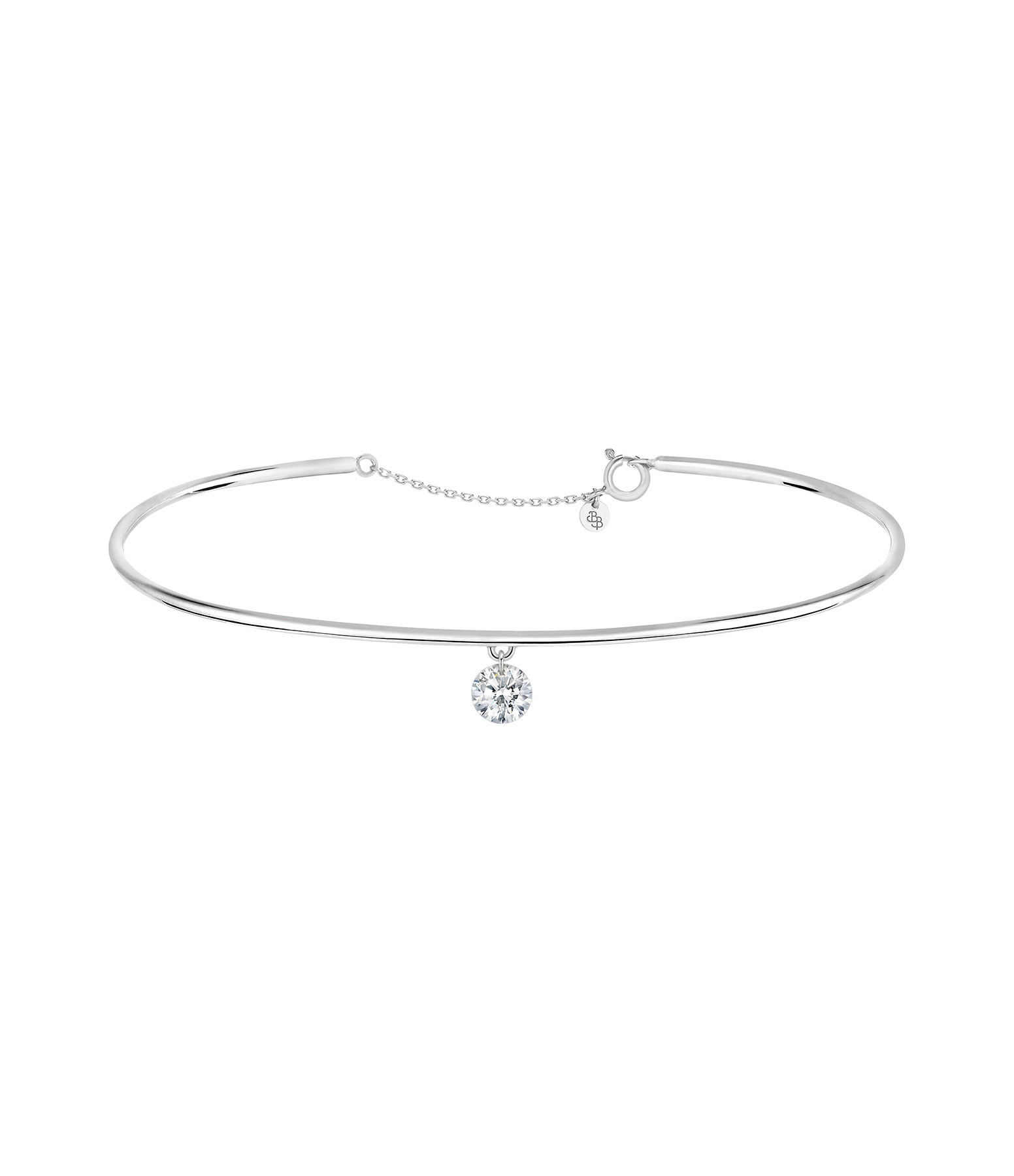 LA BRUNE & LA BLONDE - Jonc 360° Diamant Brillant 0,07 Or Blanc