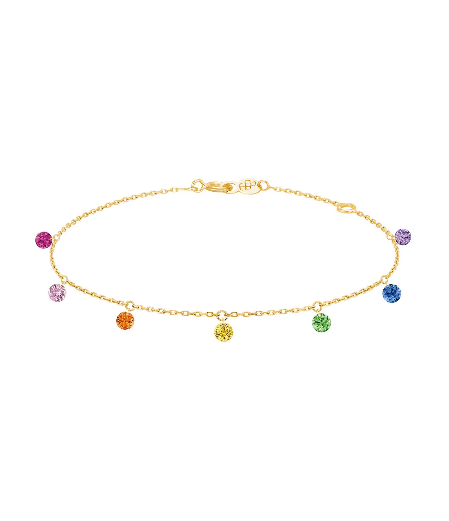 LA BRUNE & LA BLONDE - Bracelet Confetti 7 Rainbow Rubis Saphir Tsavorite Améthyste Or Jaune