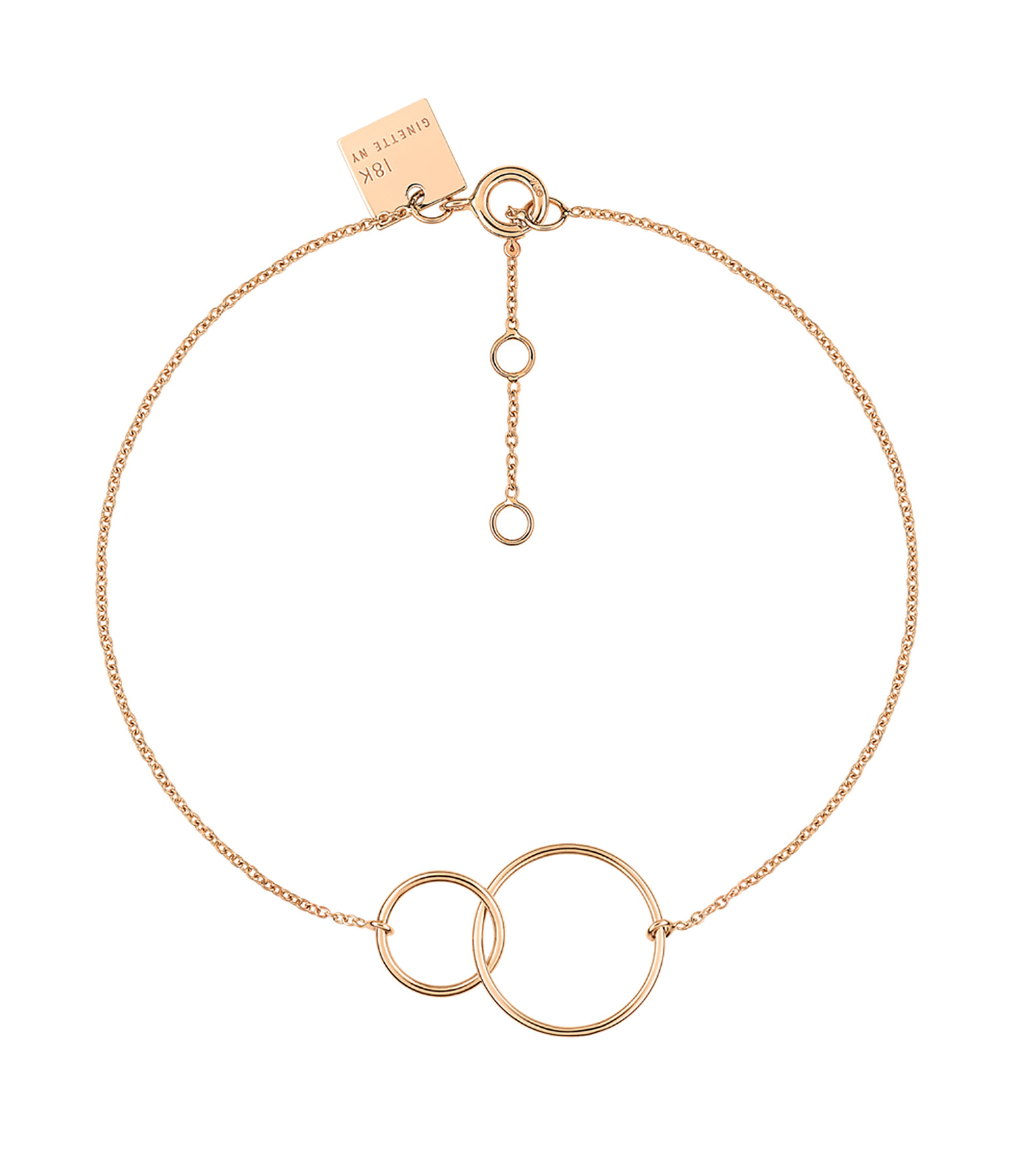 GINETTE NY - Bracelet Tiny Fusion Or Rose