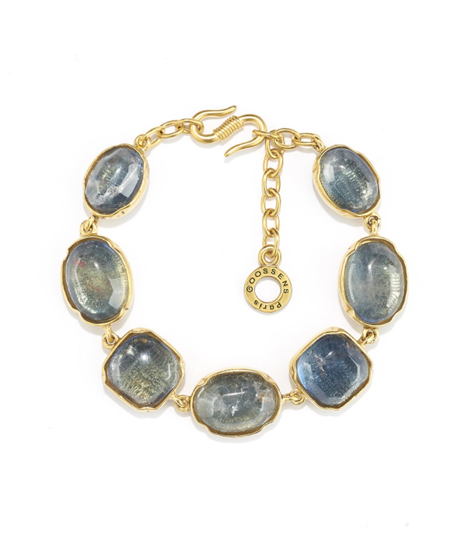 GOOSSENS - Bracelet Cabochons Bleu Denim