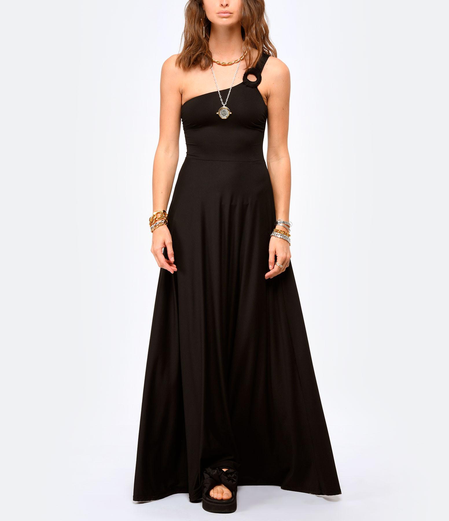 CALARENA - Robe Traversée Noir, Collection Escapade d'Été