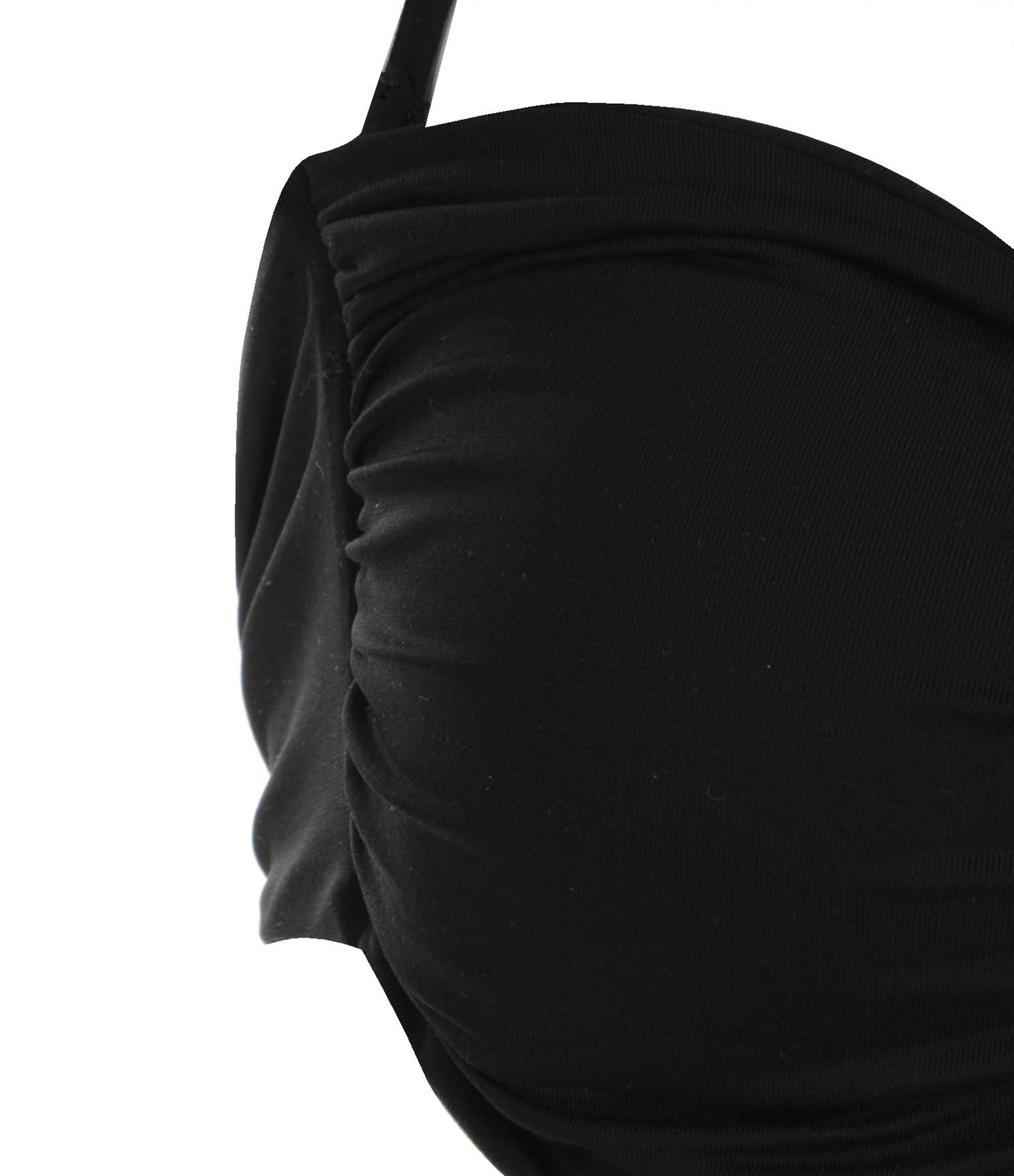 CALARENA - Haut de Maillot de Bain Escapade Noir, Collection Escapade d'Été