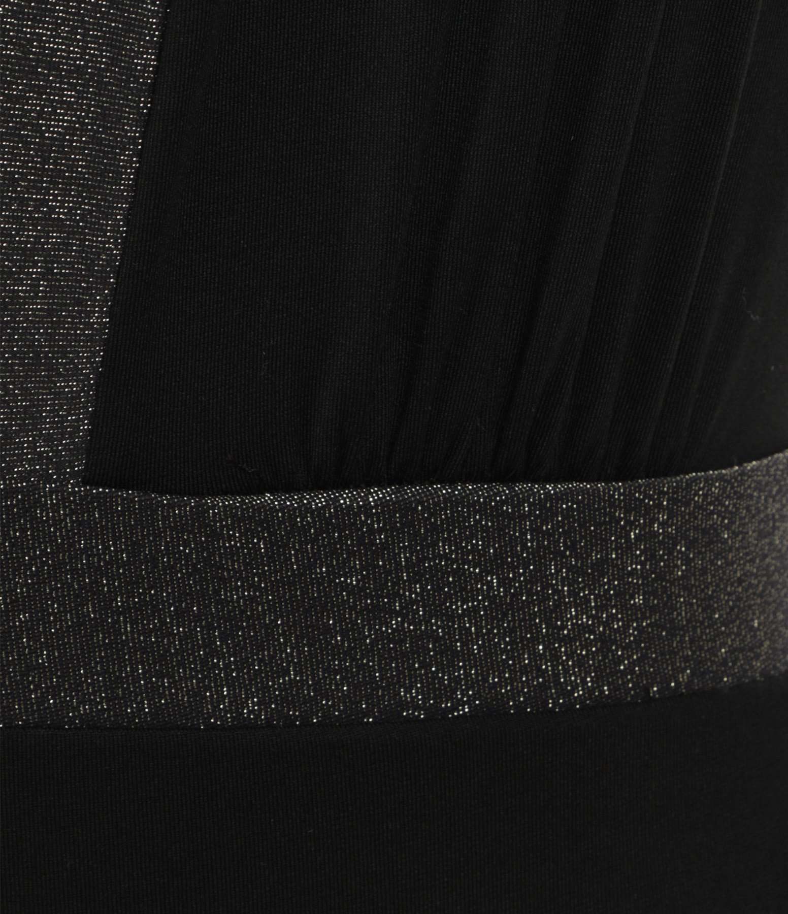 CALARENA - Maillot de Bain Posture Bimatière Lurex Noir, Collection Sport Chic et Nautique