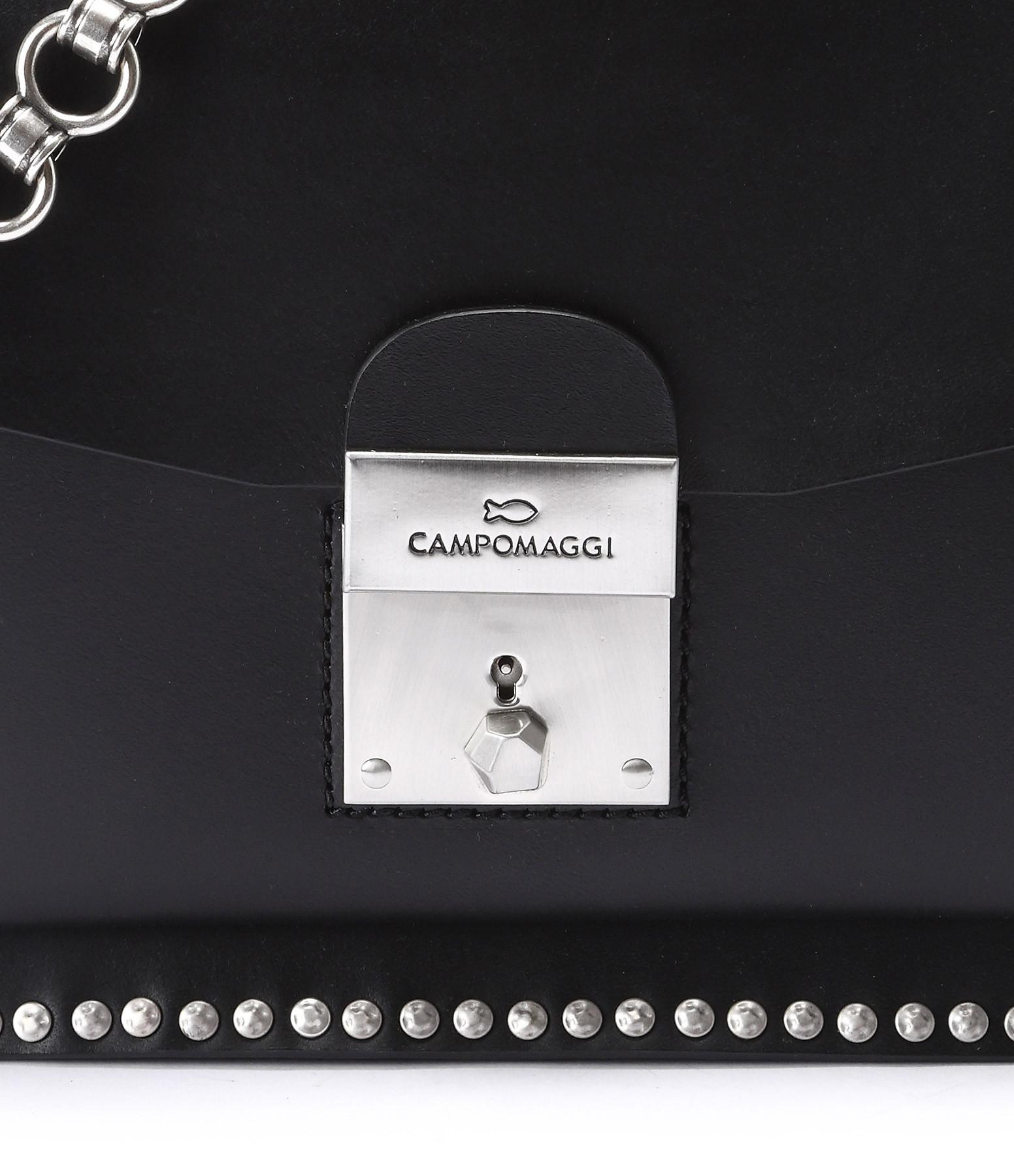 CAMPOMAGGI - Sac Cartable S Cuir Noir