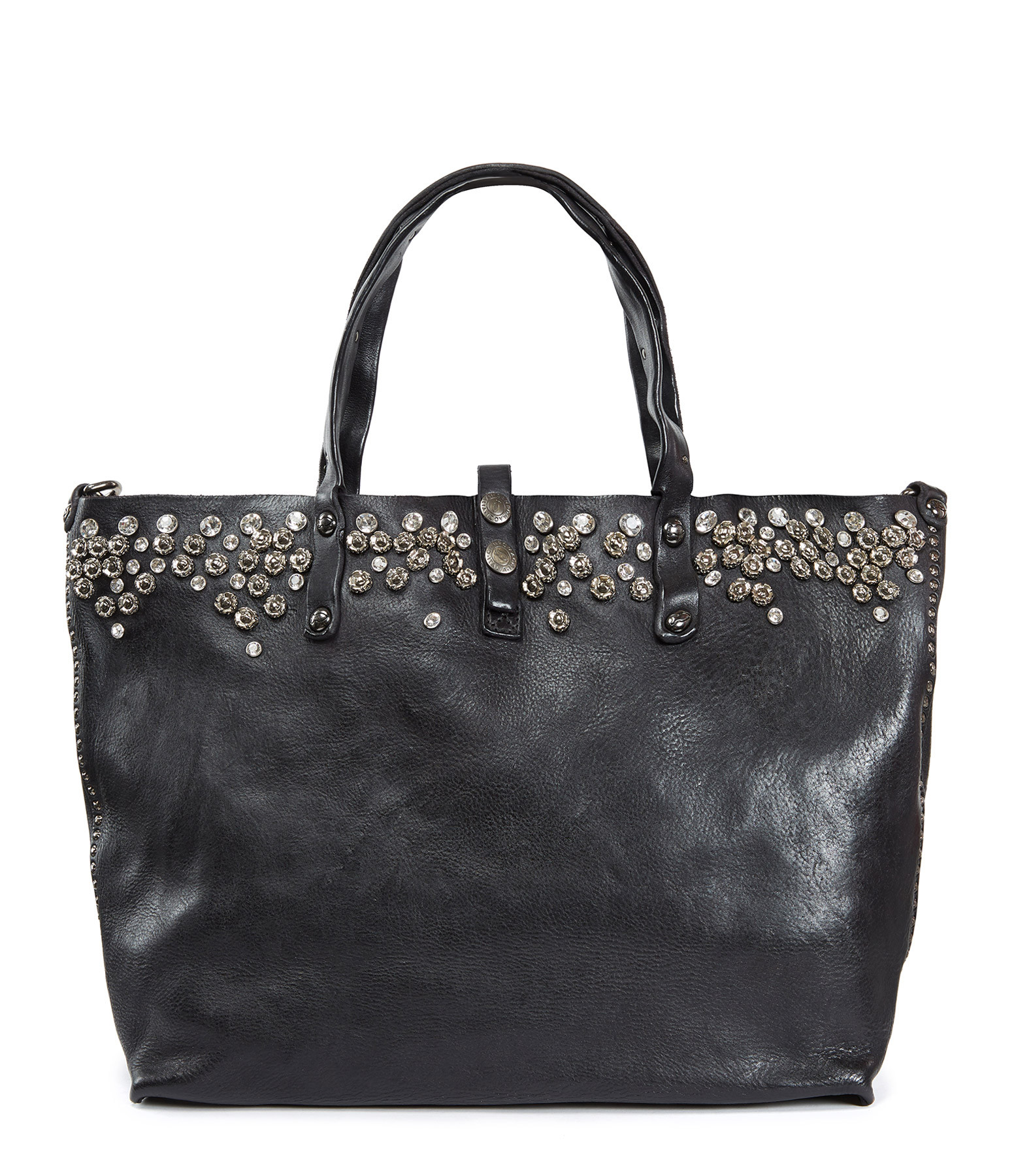 CAMPOMAGGI - Sac Shopping Cow Clous Noir