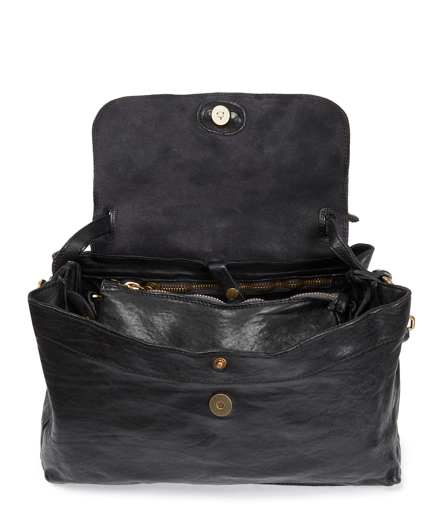 CAMPOMAGGI - Sac Handbag Cow Clous Noir