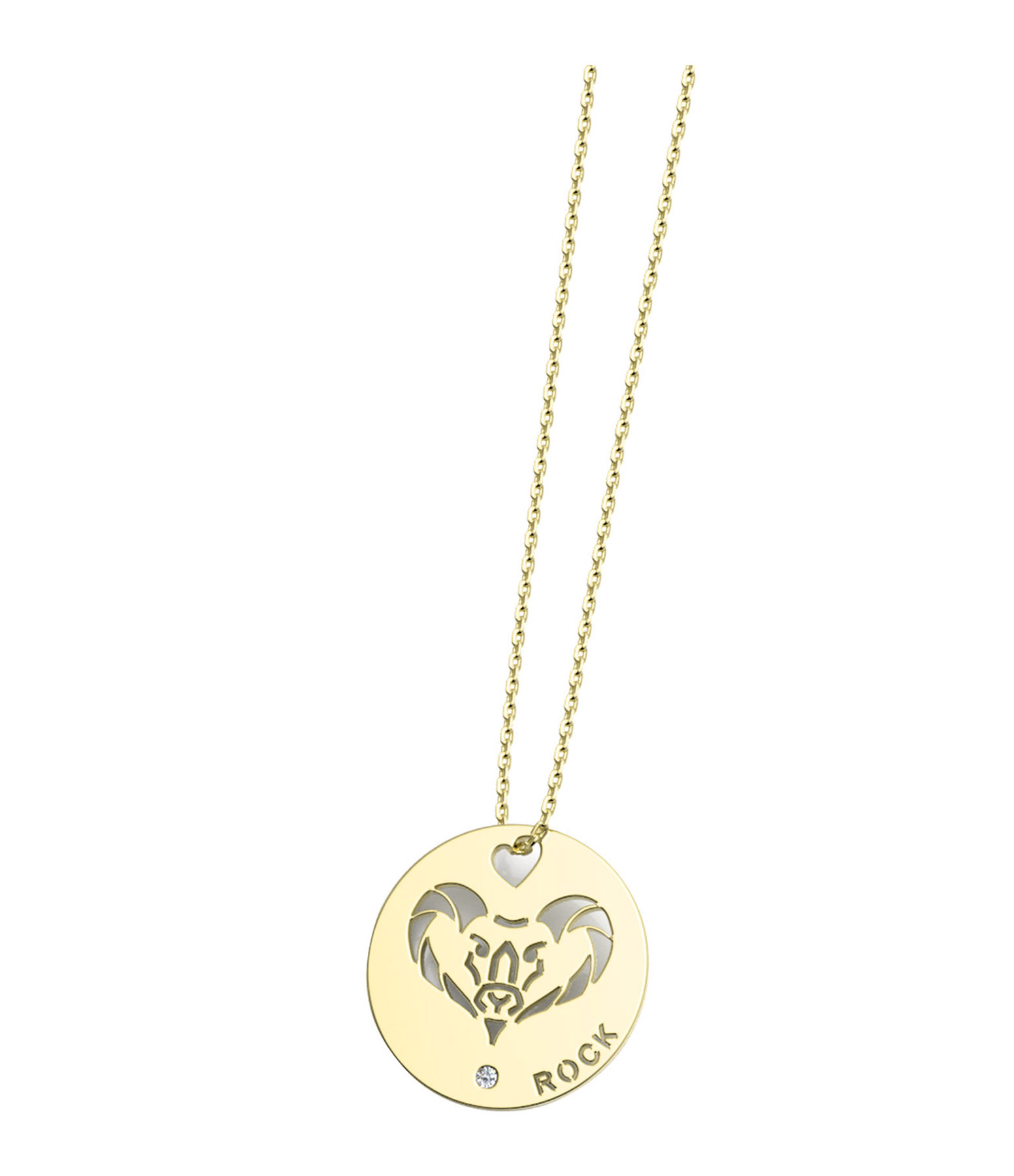 NAVA JOAILLERIE - Collier Horosco-Rock Capricorne Diamants Or