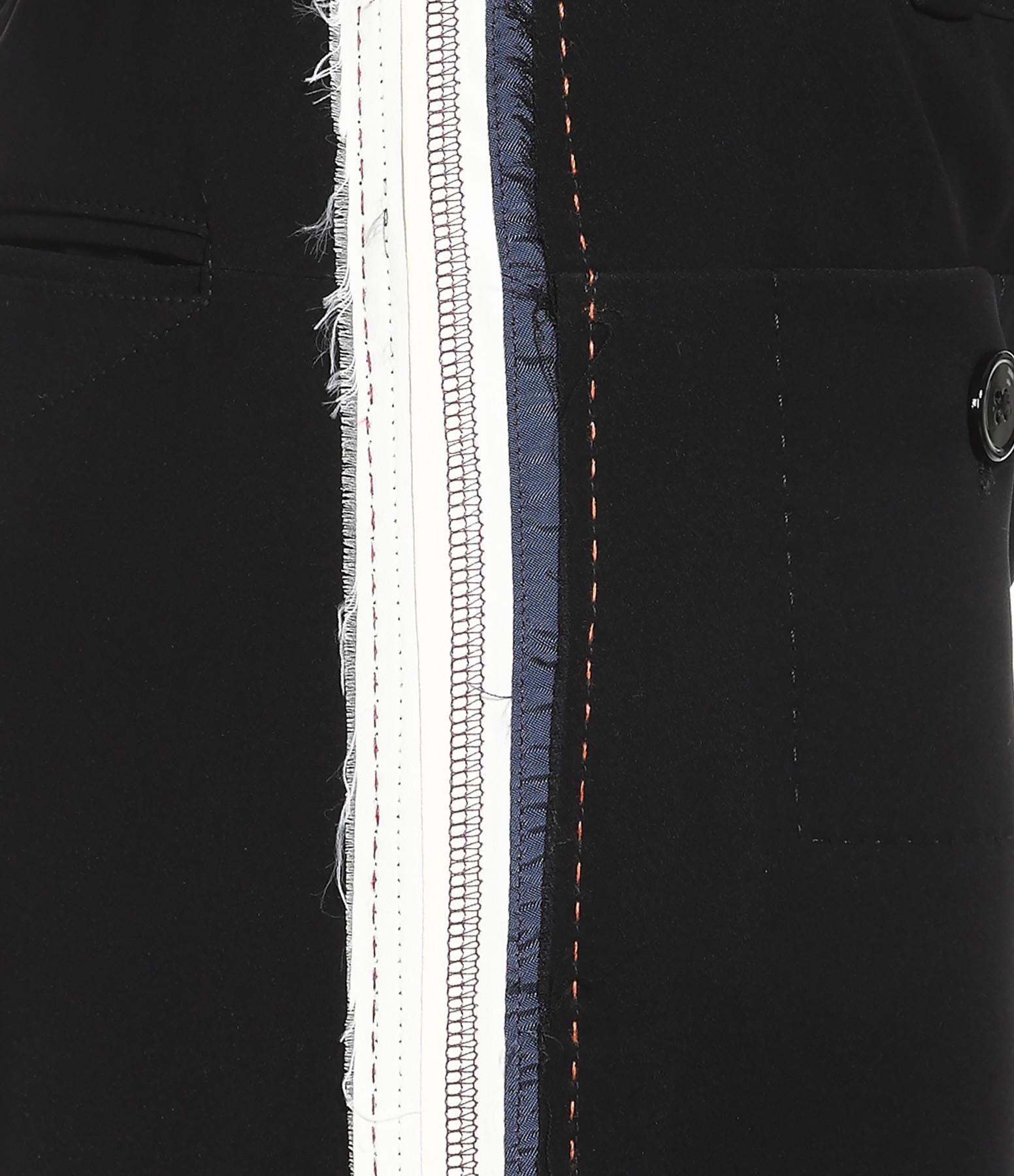 CARVEN - Pantalon Bandes Noir