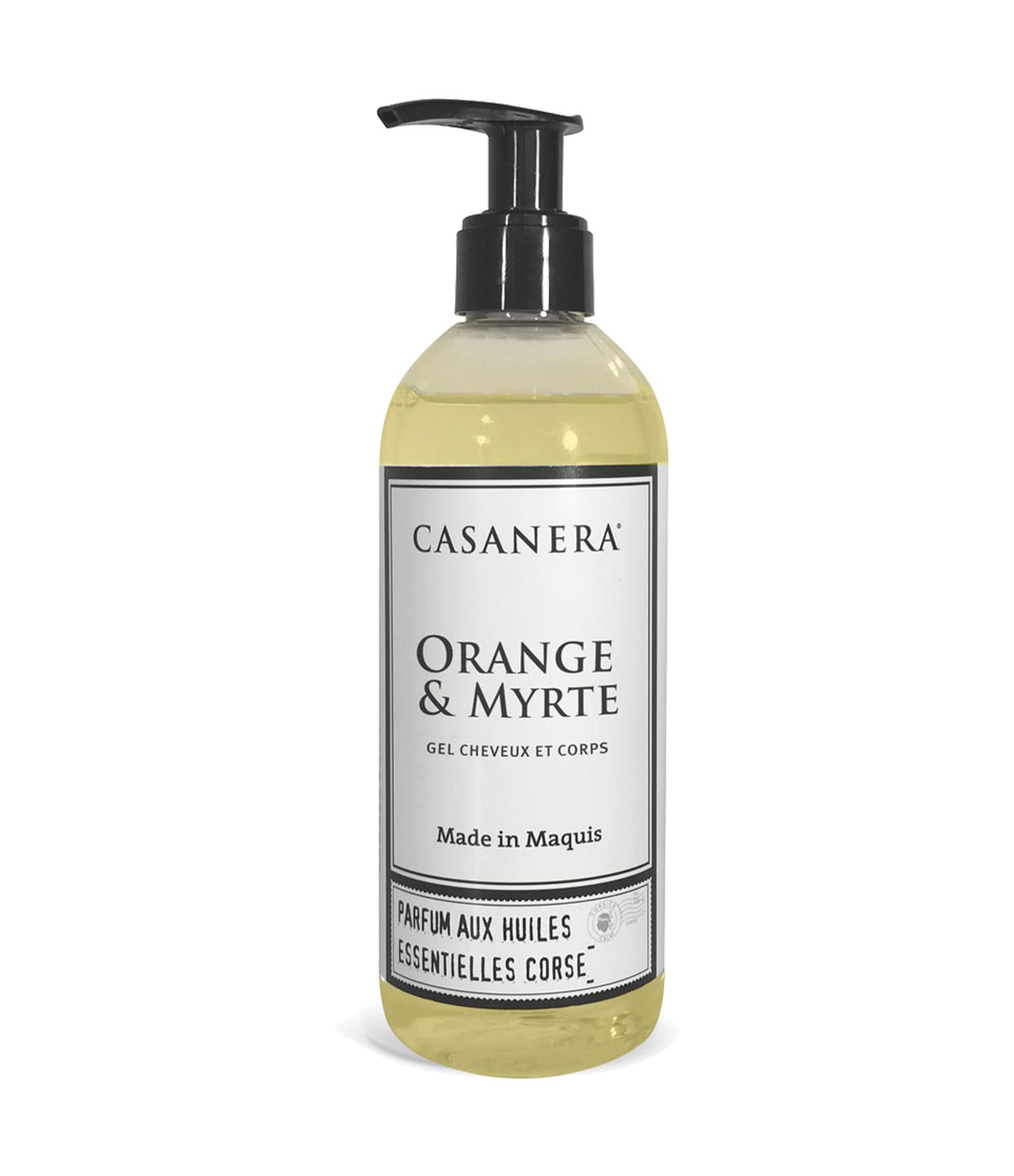 CASANERA - Gel Cheveux et Corps Orange Myrte 300ml