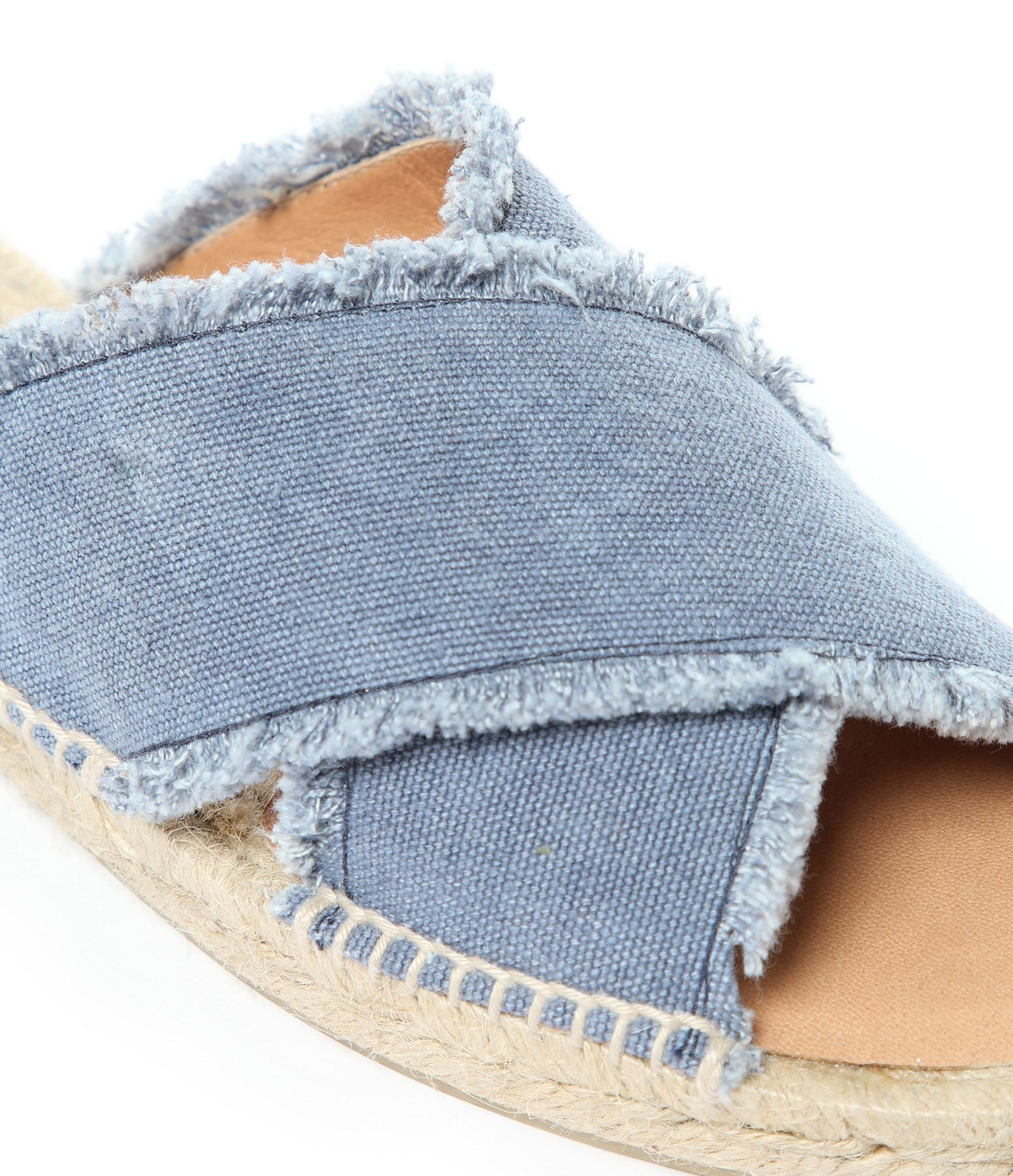 CASTAÑER - Mules Palmera Bleu Jean