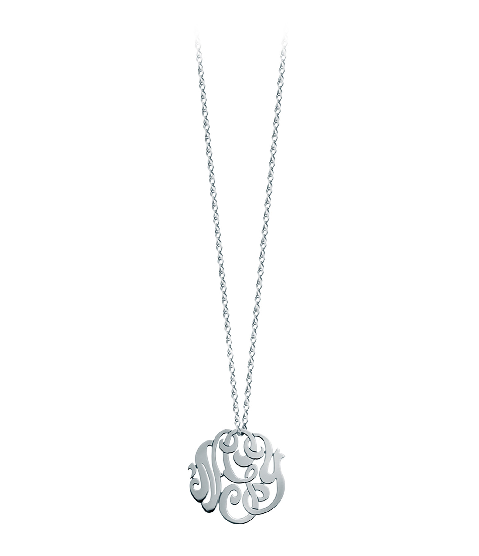 Collier or blanc baby monogramme nGy