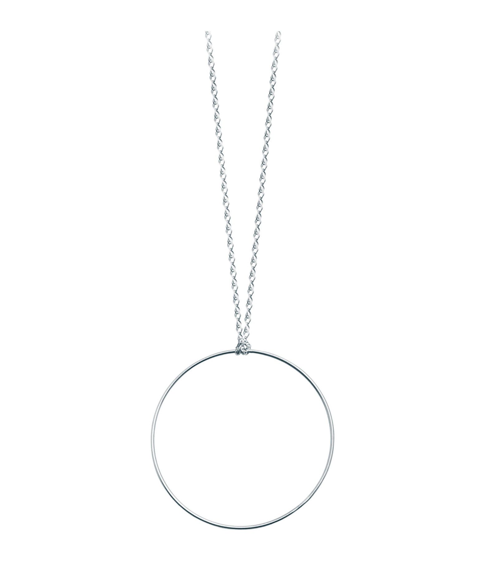 Collier Cercle or blanc - Ginette_ny